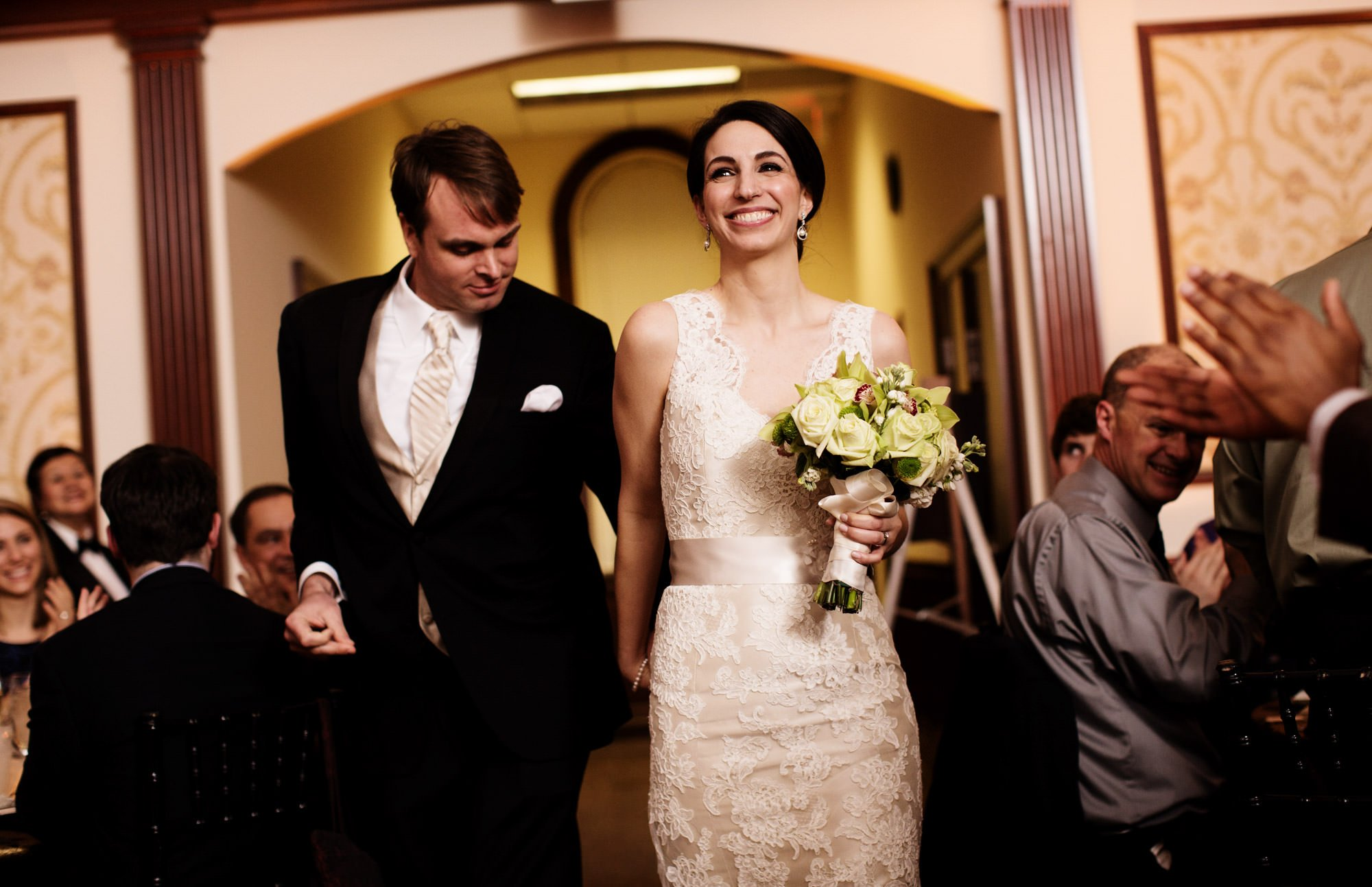 St. Sophia Greek Orthodox Cathedral Wedding  I  The bride and groom enter the dining hall in Washington, DC.
