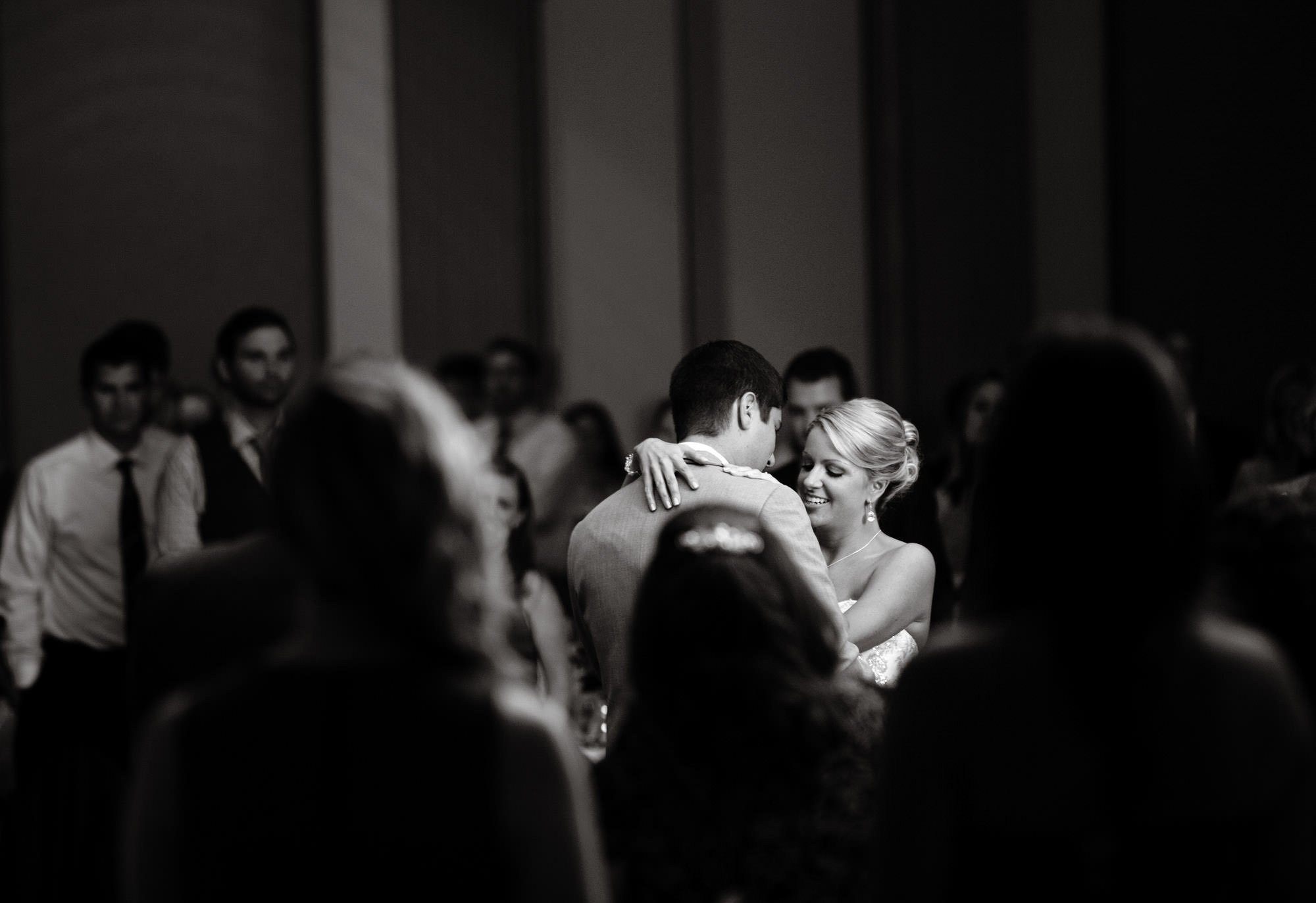 The couple shares their first dance during their Nittany Lion Inn wedding.