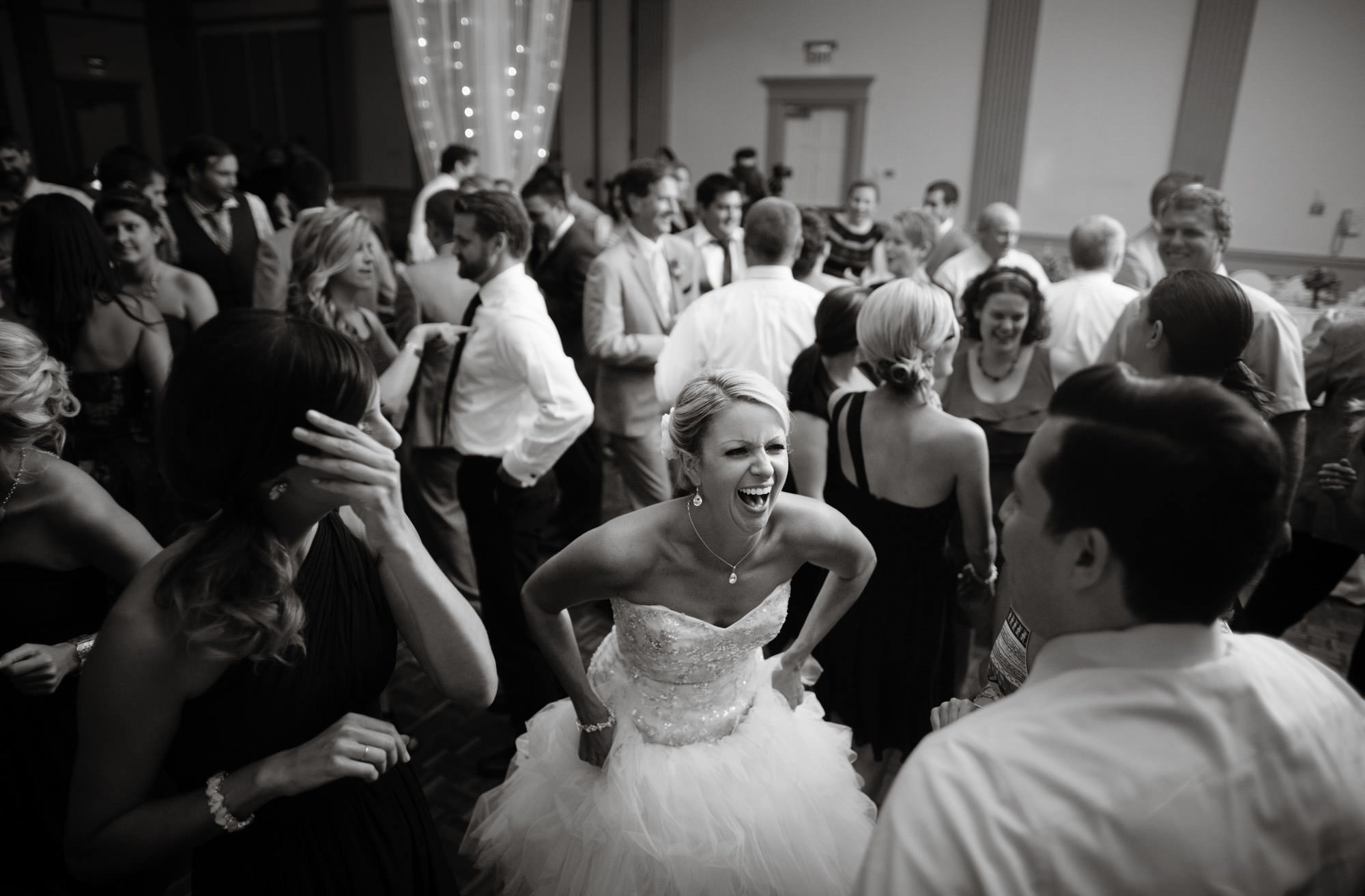 Guests dance during the wedding reception at The Nittany Lion Inn.
