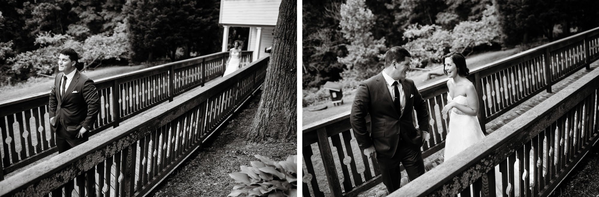 The couple shares their first look.