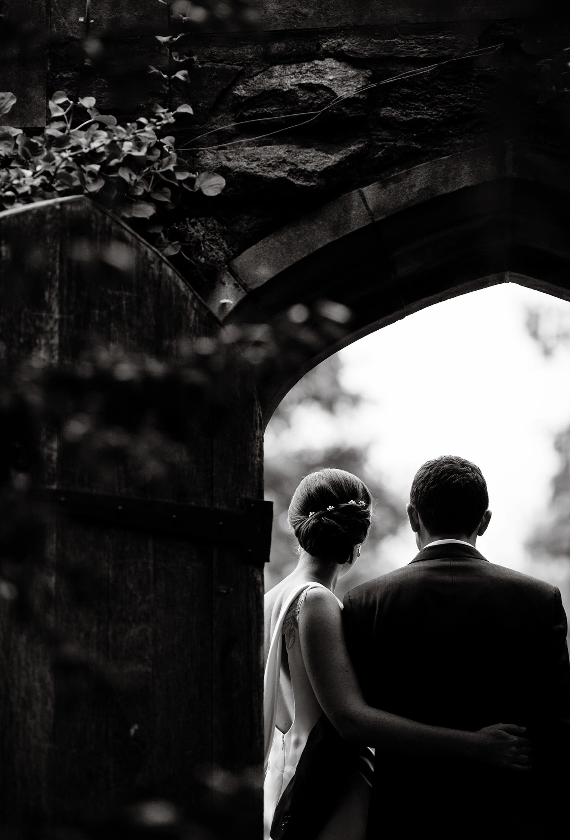 A portrait of the bride and groom.
