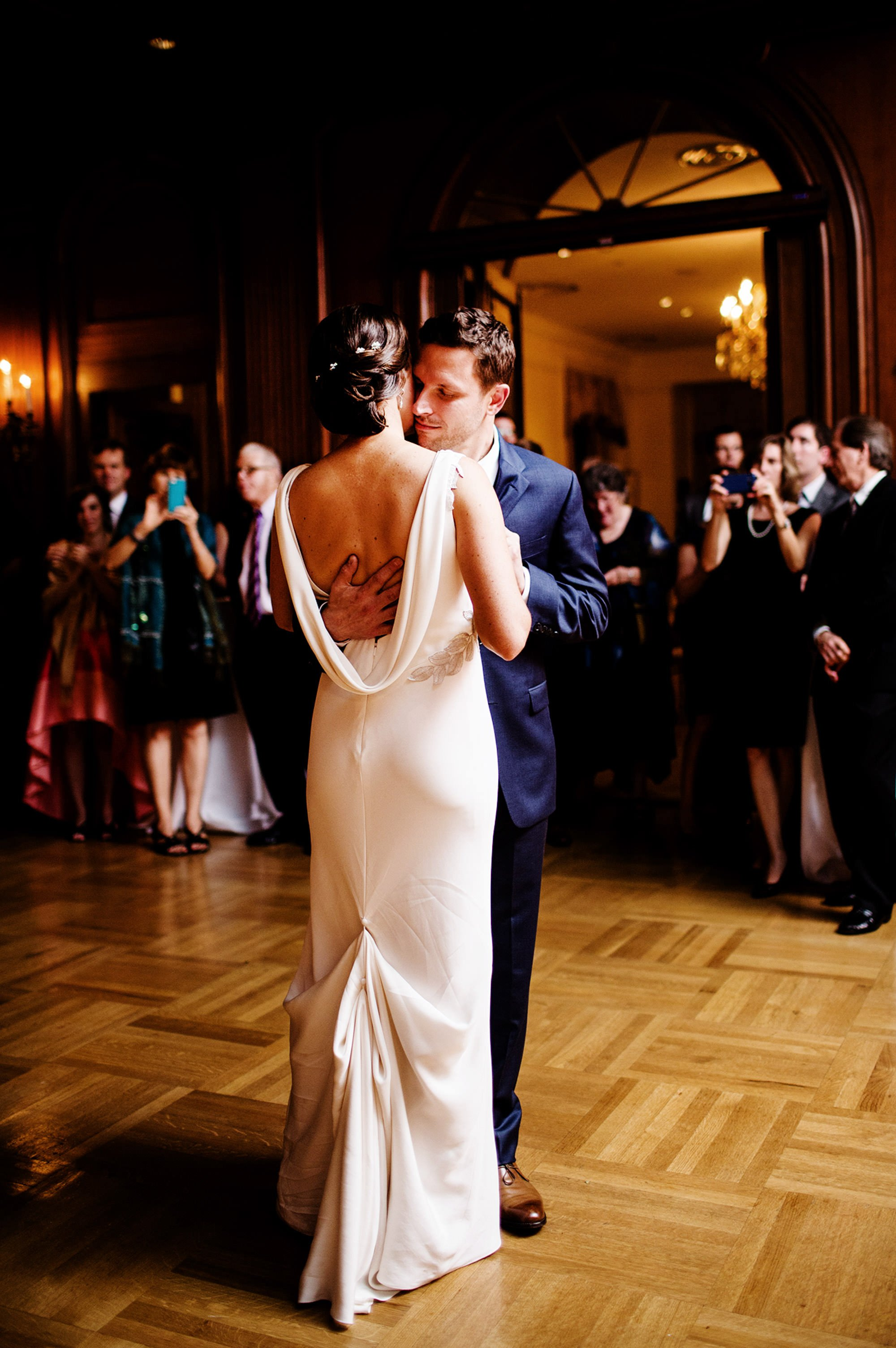 The Bride and Groom First Dance at Cosmos Club.
