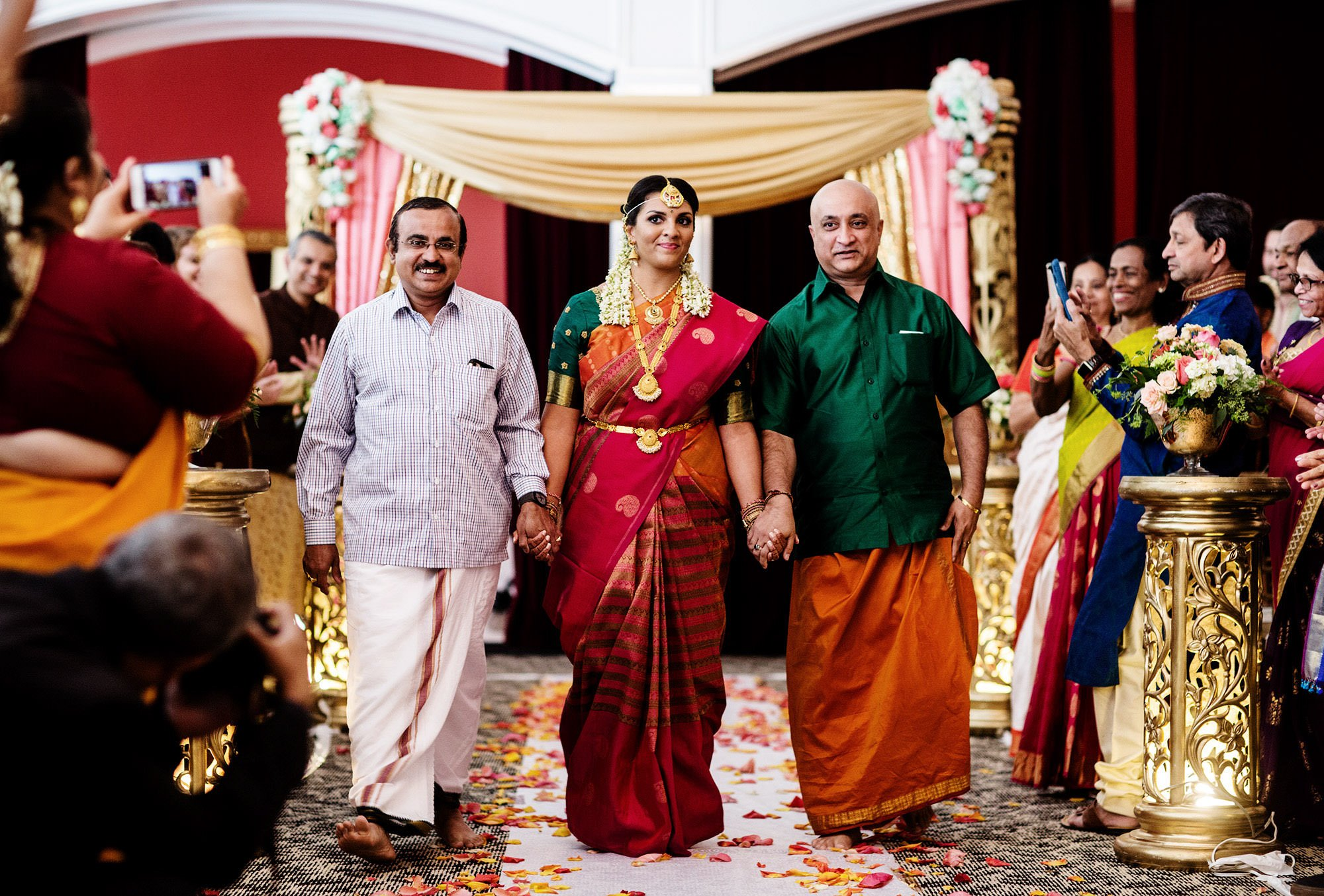 Foxchase Manor Wedding in Manassas, VA  I  Bride Processional, Hindu Ceremony, Indian Wedding