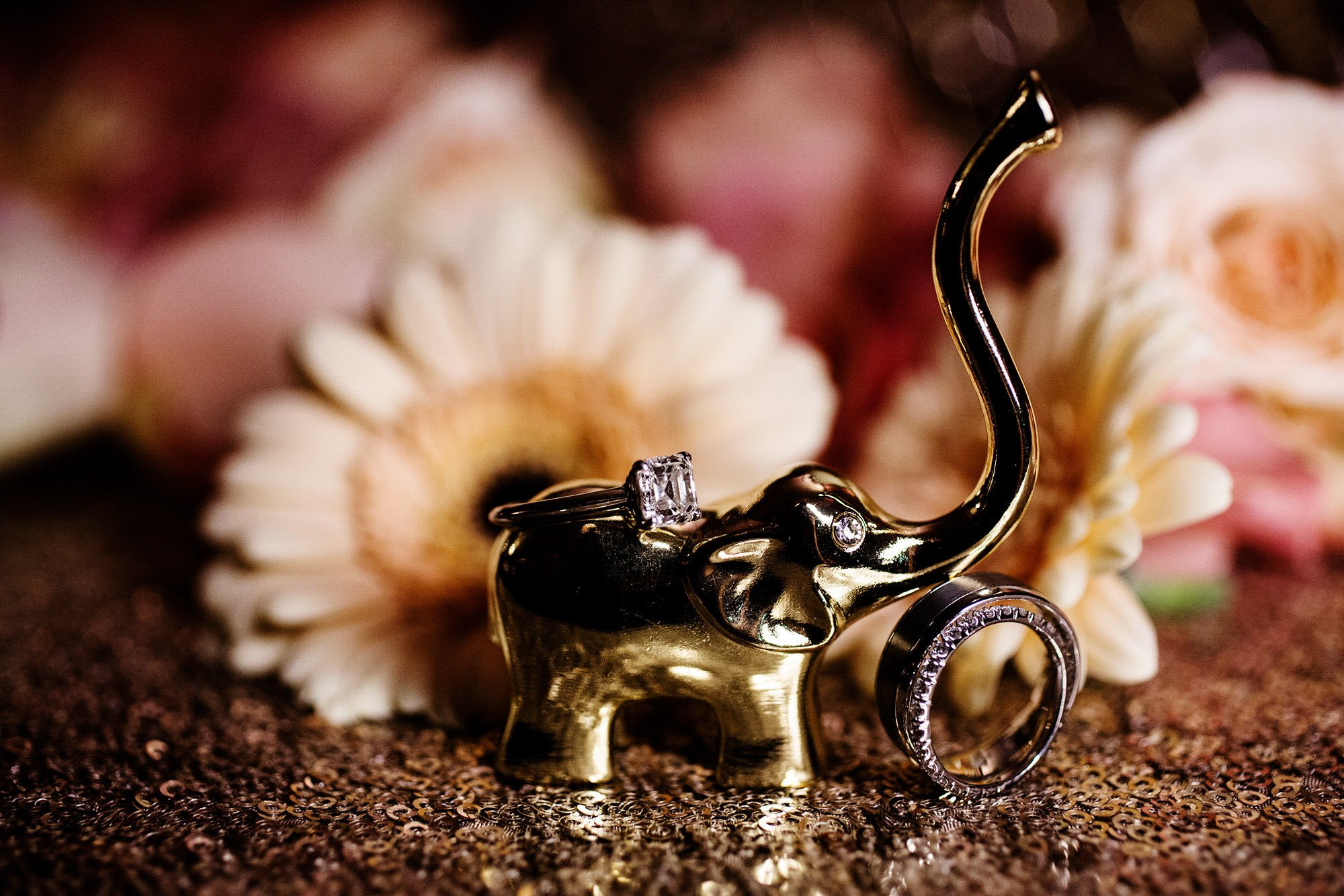 A Hindu Ring Detail during this Foxchase Manor Wedding.