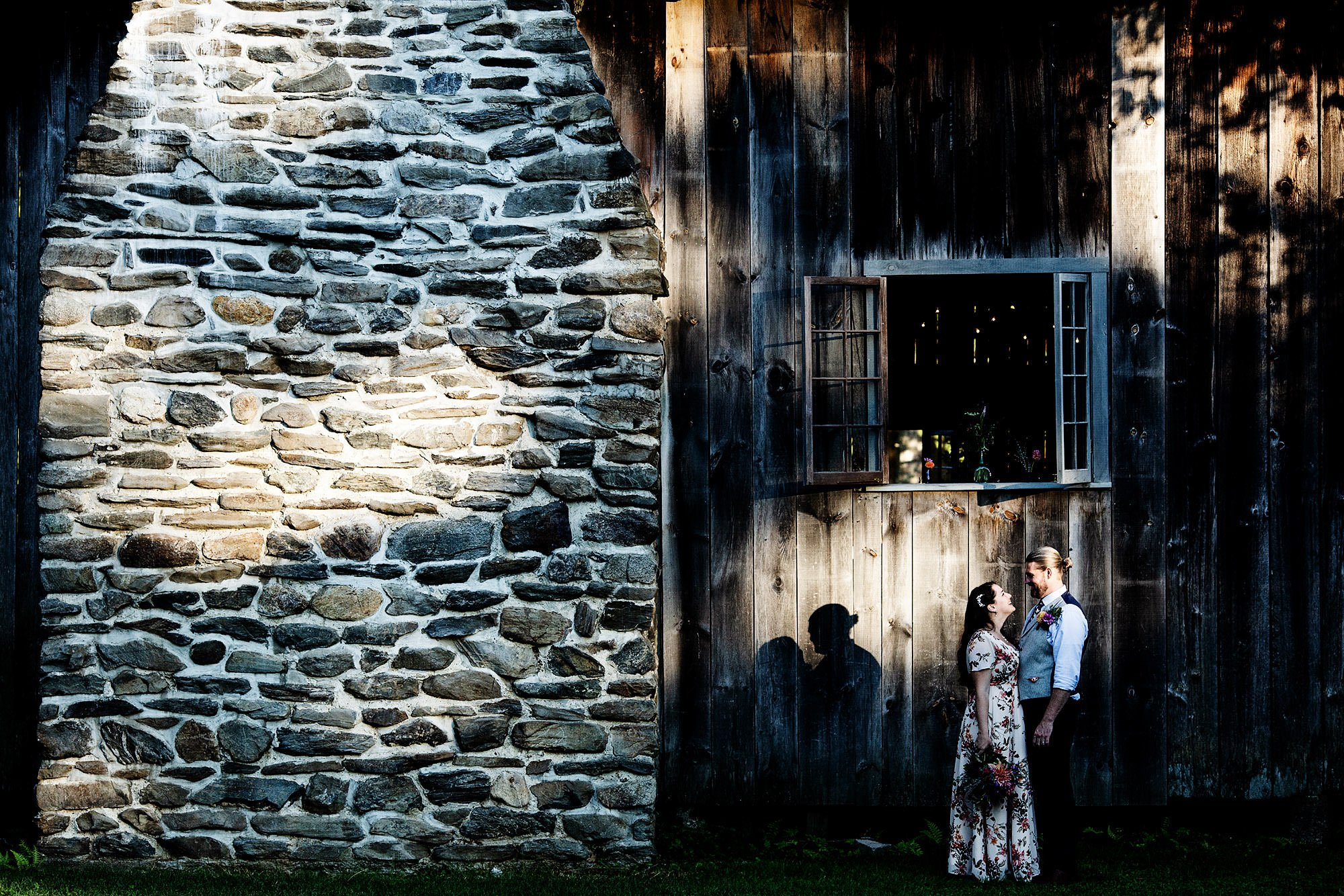 Portrait of a couple during a wedding at Hulbert Outdoor Center