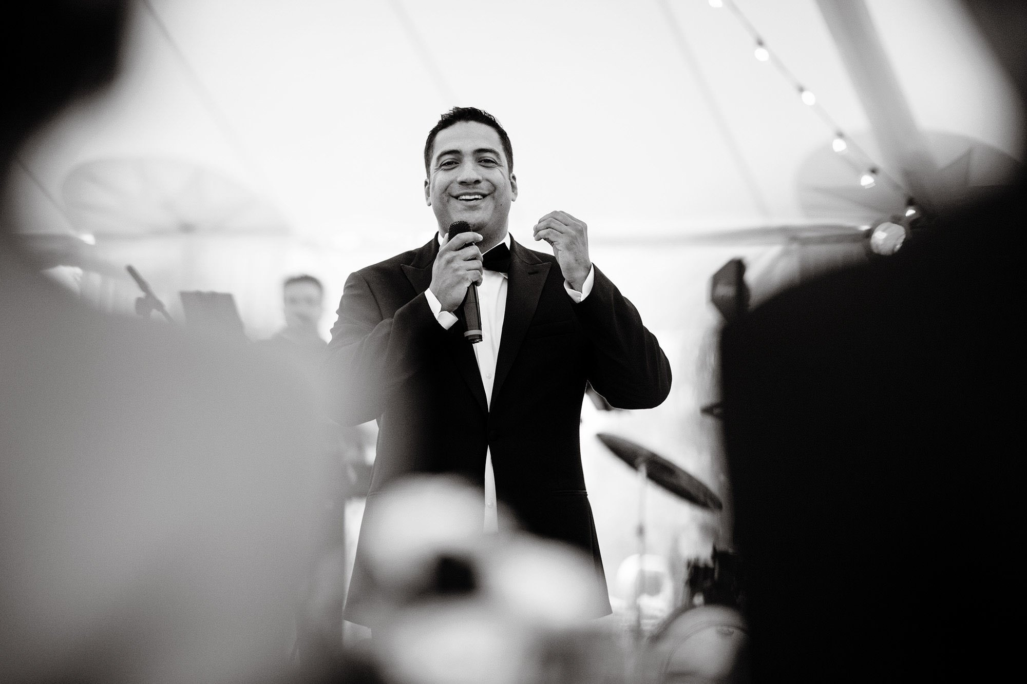 The Best Man gives a Toast.