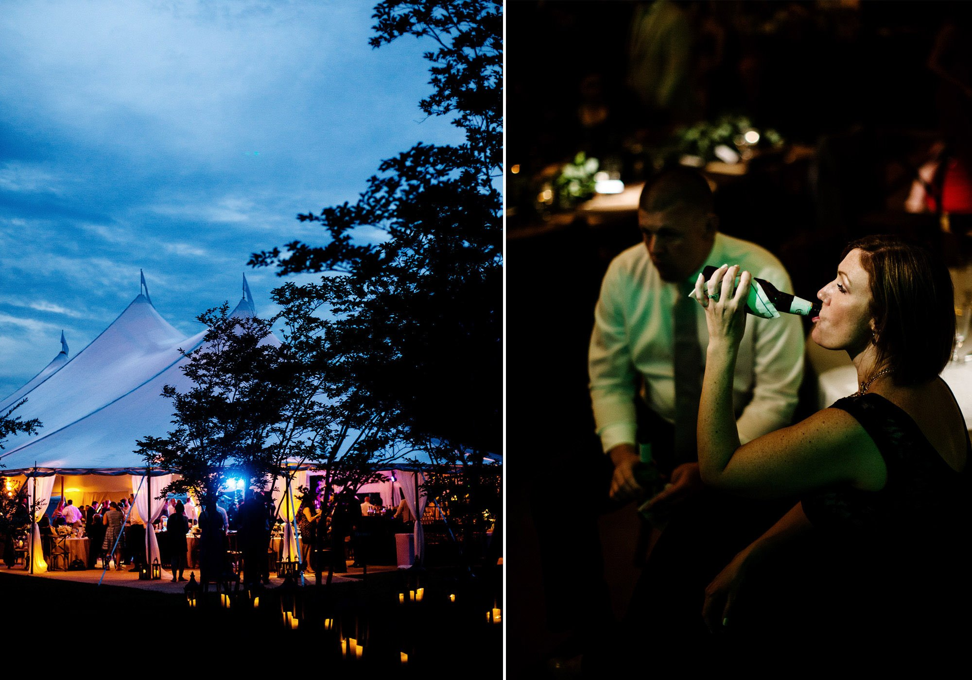 The Tented Reception at Inn at Perry Cabin Wedding in St. Michaels, MD