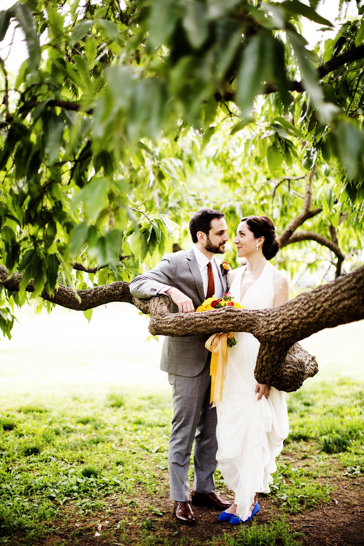 Longview Gallery Wedding in Washington, DC  I  Bride and Groom Portrait in Lafayette Park