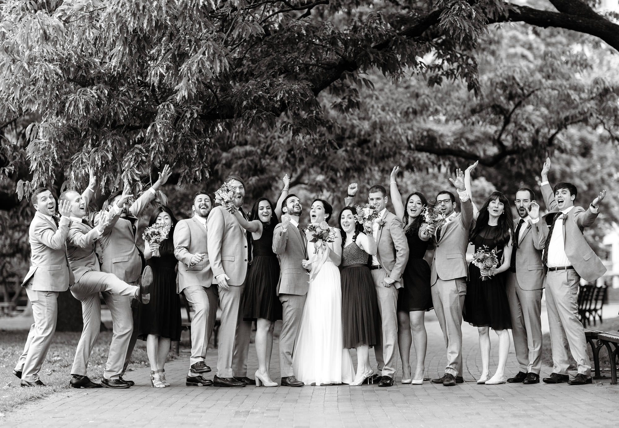 The Wedding Party in Lafayette Park