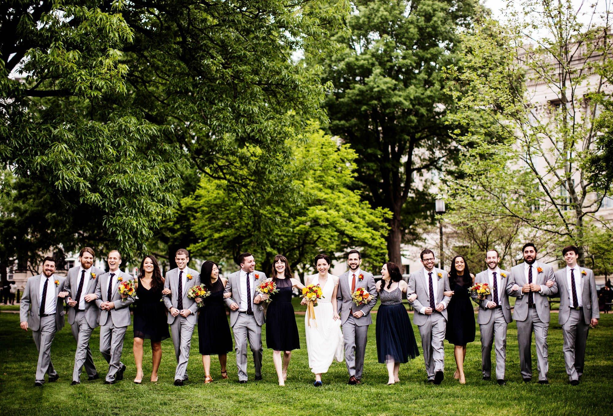Longview Gallery Wedding in Washington, DC  I  Wedding Party in Lafayette Park