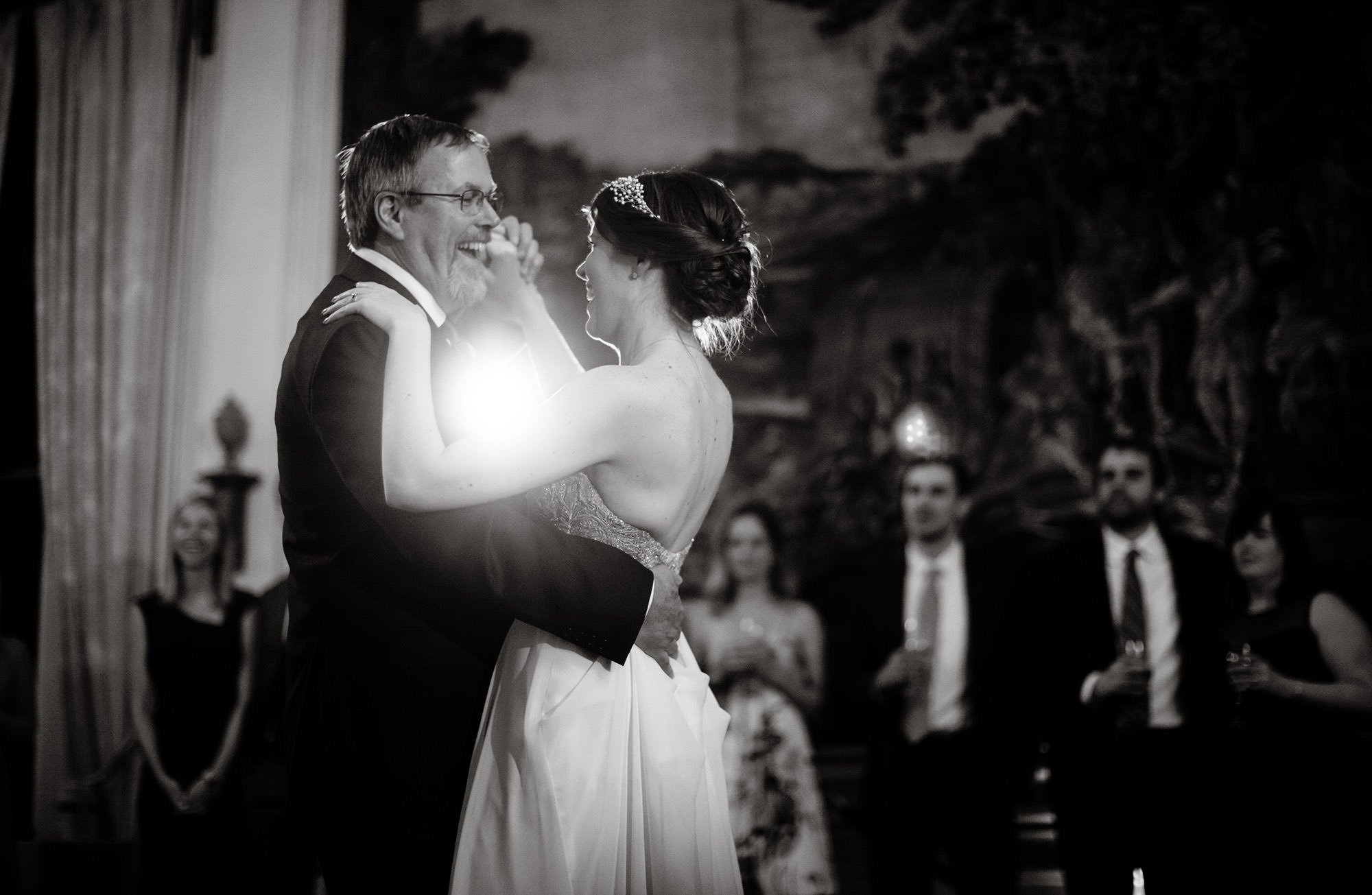 The bride dances with her father at this Meridian House wedding.