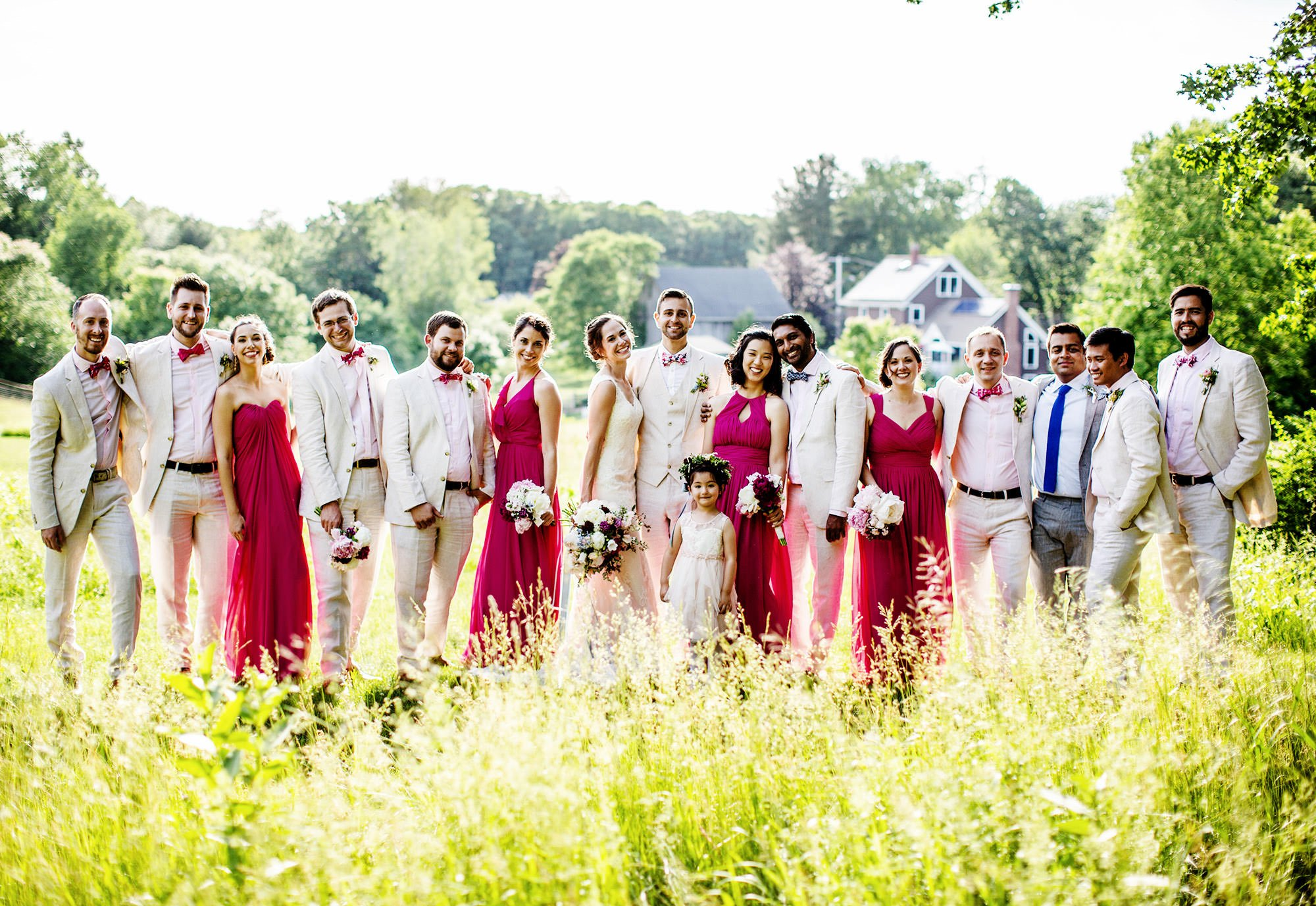 The wedding party following the outdoor ceremony.
