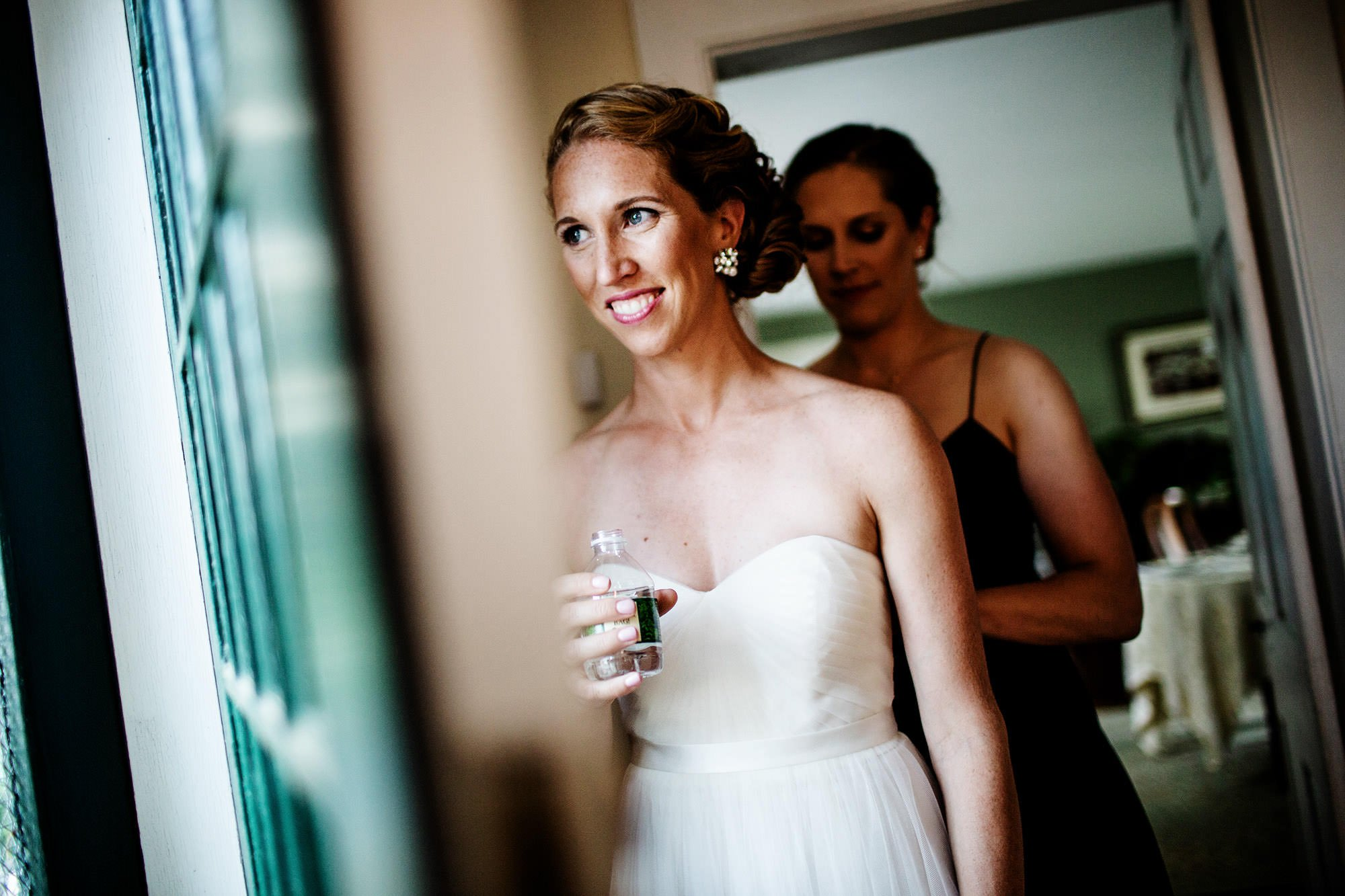 The bride waits for her wedding ceremony to begin.