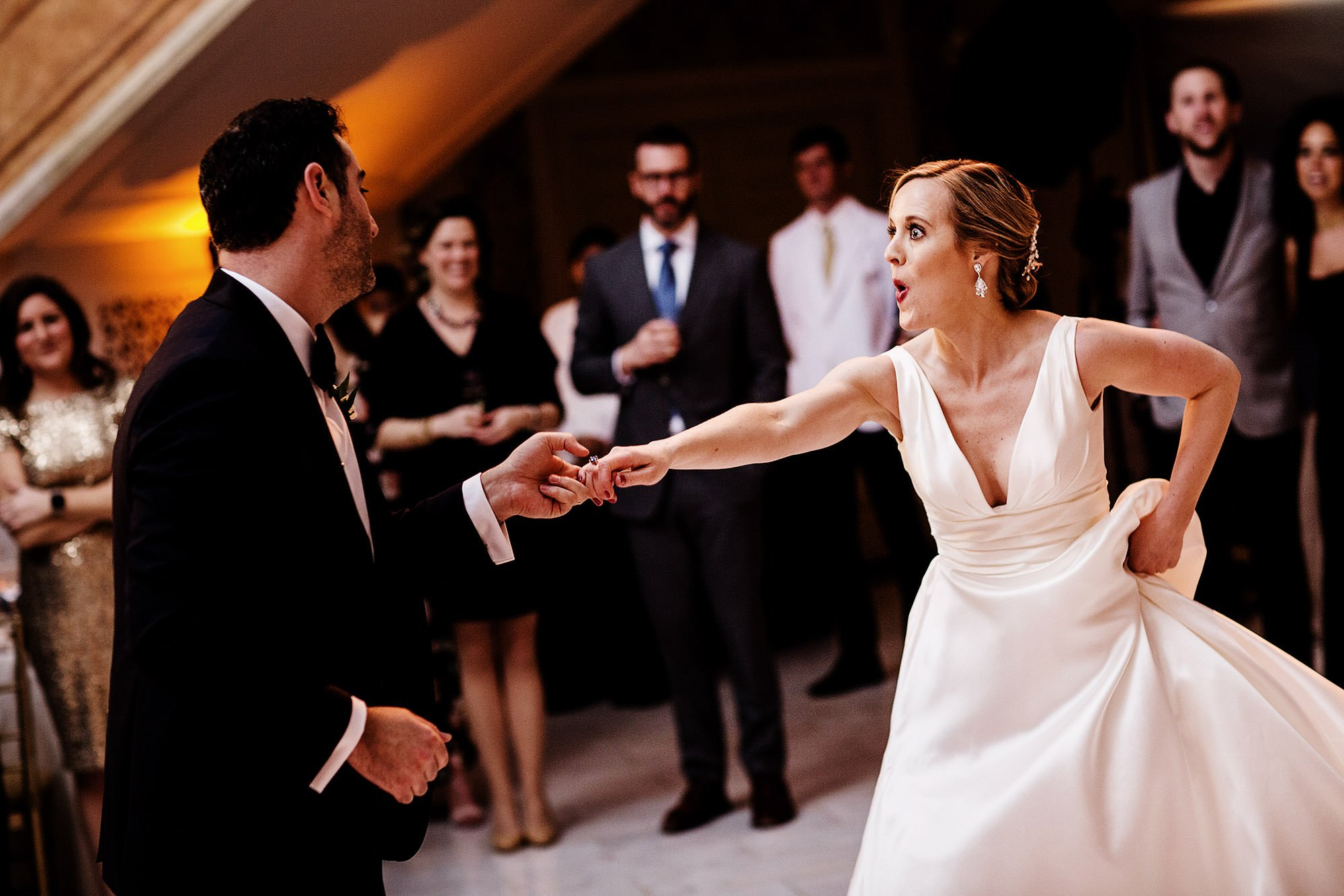 NMWA DC Wedding  I  The bride and groom share their first dance at National Museum of Women in the Arts in Washington, DC.