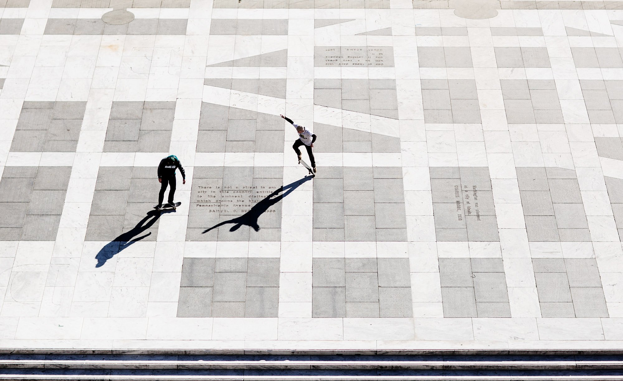 Freedom Plaza Skateboarding