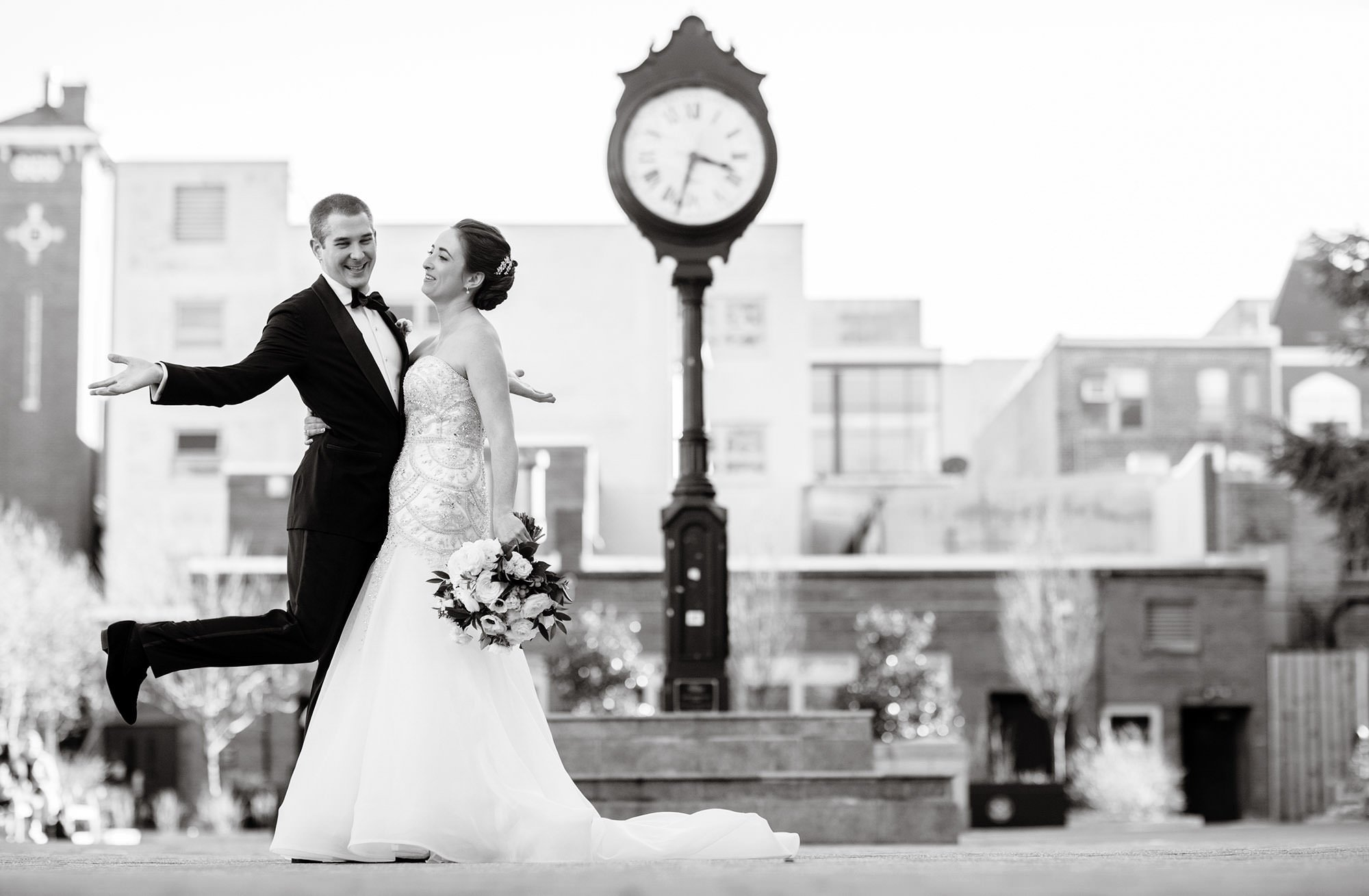 The Bride and Groom enjoy their First Look at Kogan Plaza before their NMWA wedding.