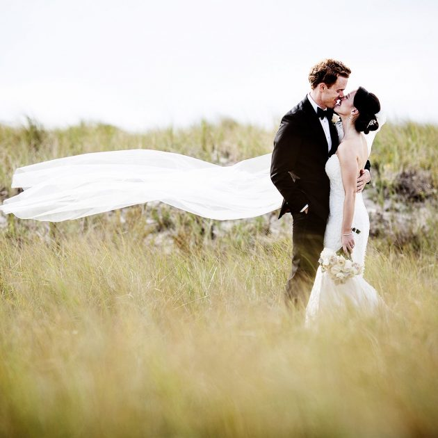 Cape Cod Wedding Photographers I Crosby Landing Beach Portrait of the bride and groom I Ocean Edge Resort Wedding Reception