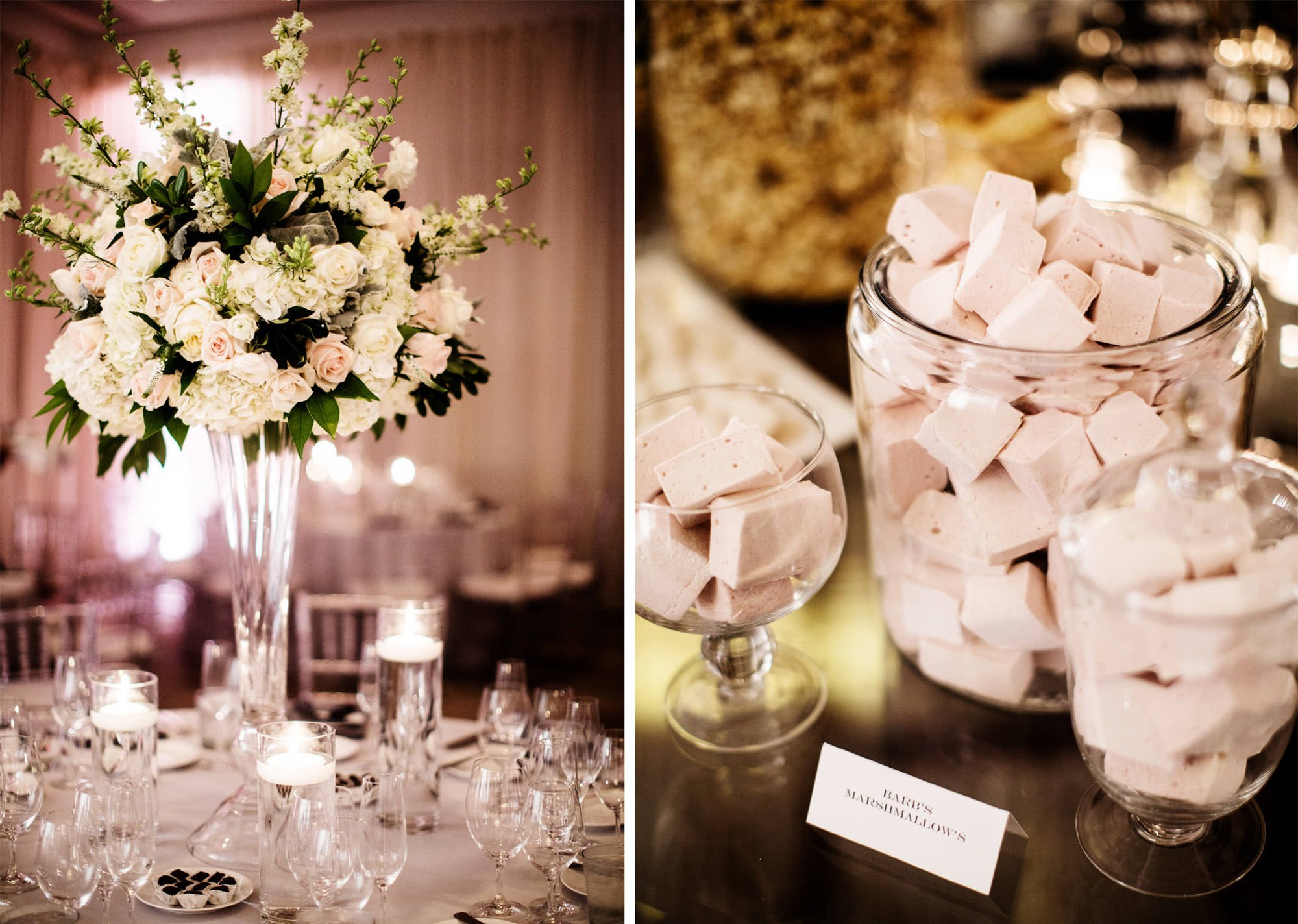 Room Details with Dessert and Flowers