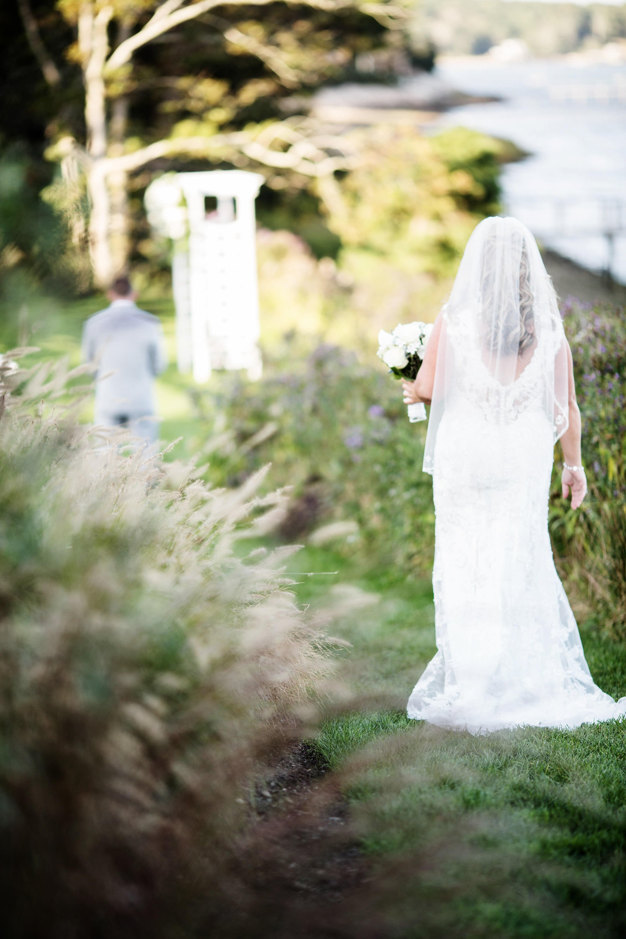 Cape Cod Wedding Photographers I Wequassett Resort and Golf Club Wedding bride and groom first look