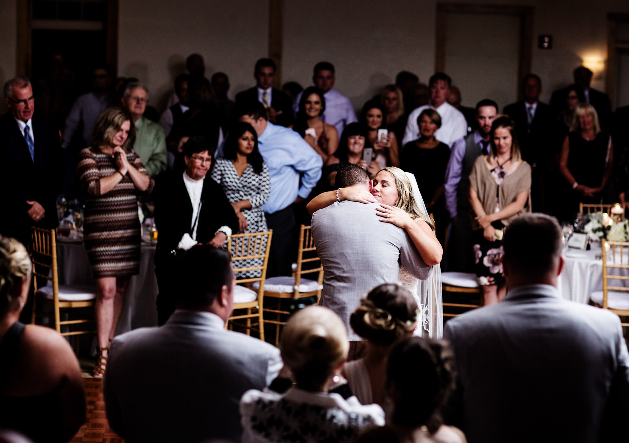 The bride and groom share their first dance at their Wequassett Resort and Golf Club Wedding.