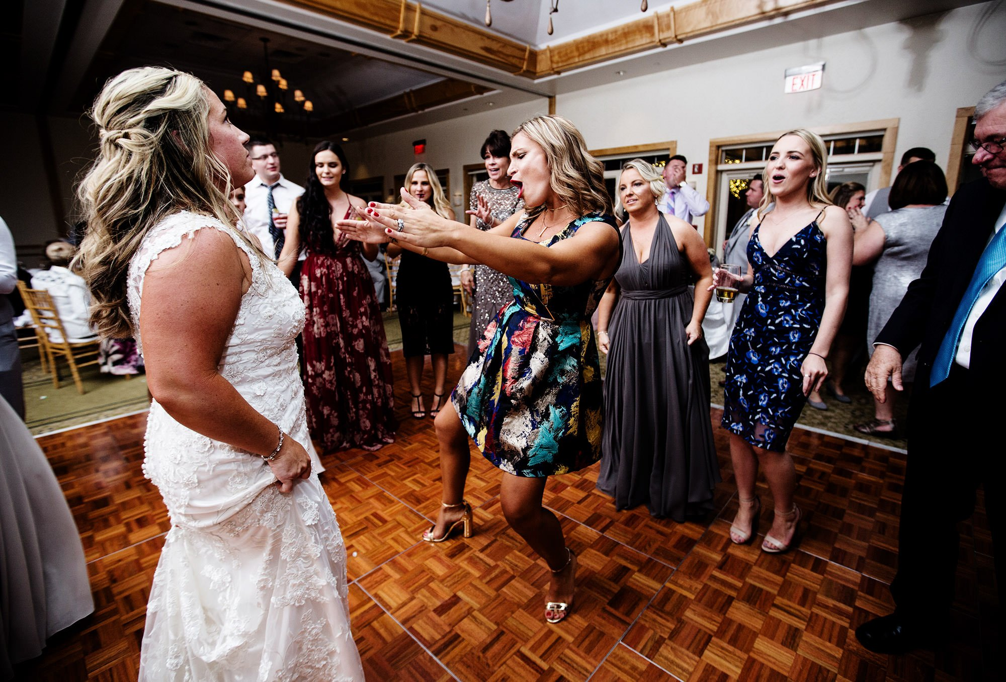 Guests dance and enjoy the reception at Wequassett Resort.
