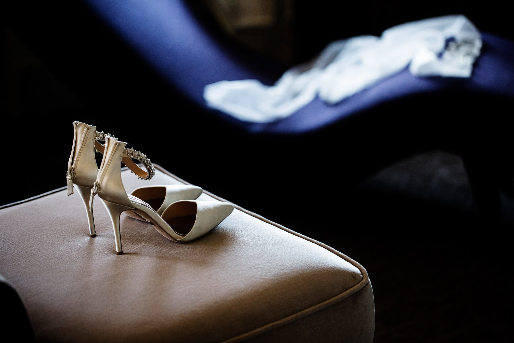 A detail of the bride's shoes.