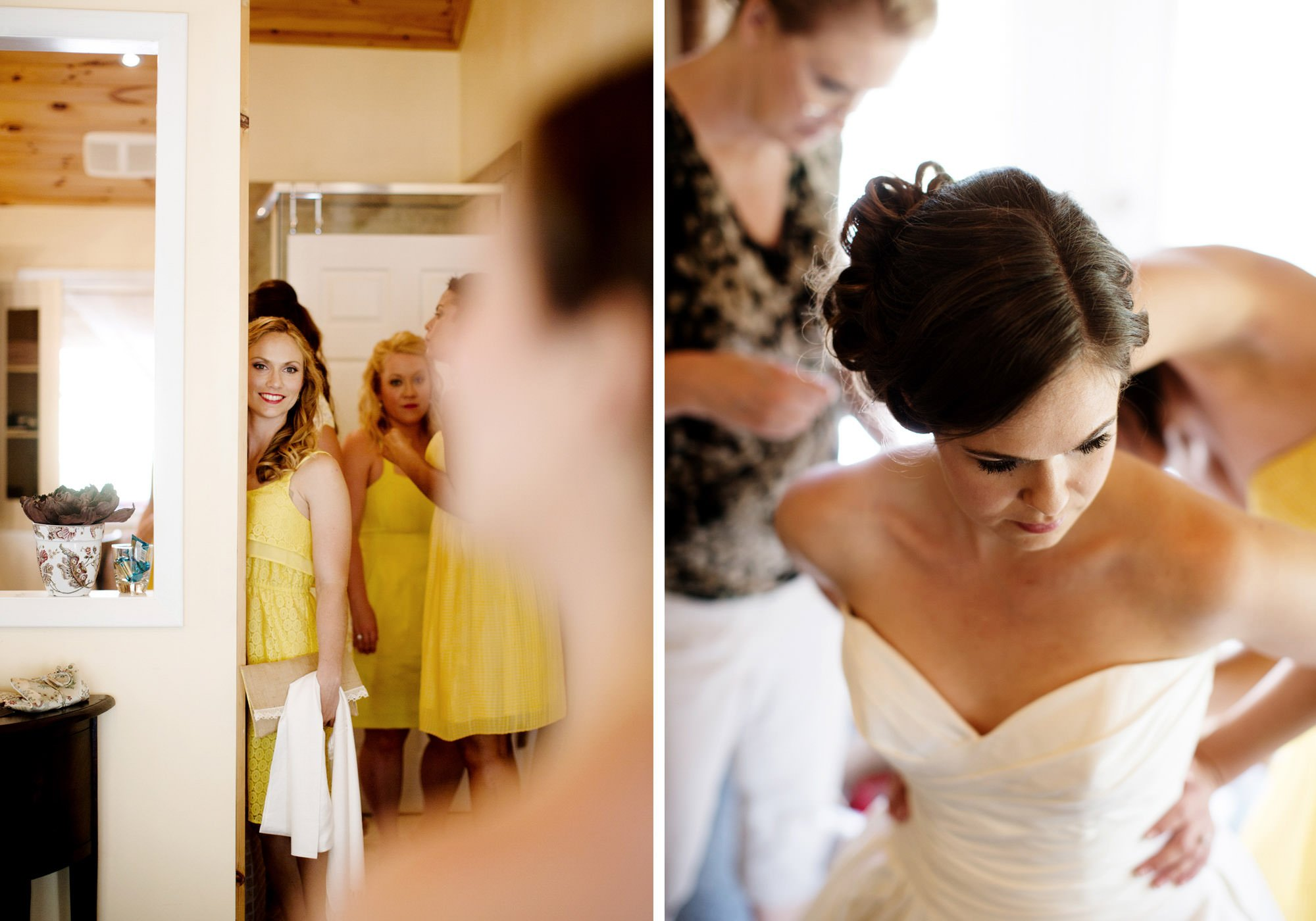 The bride gets ready.