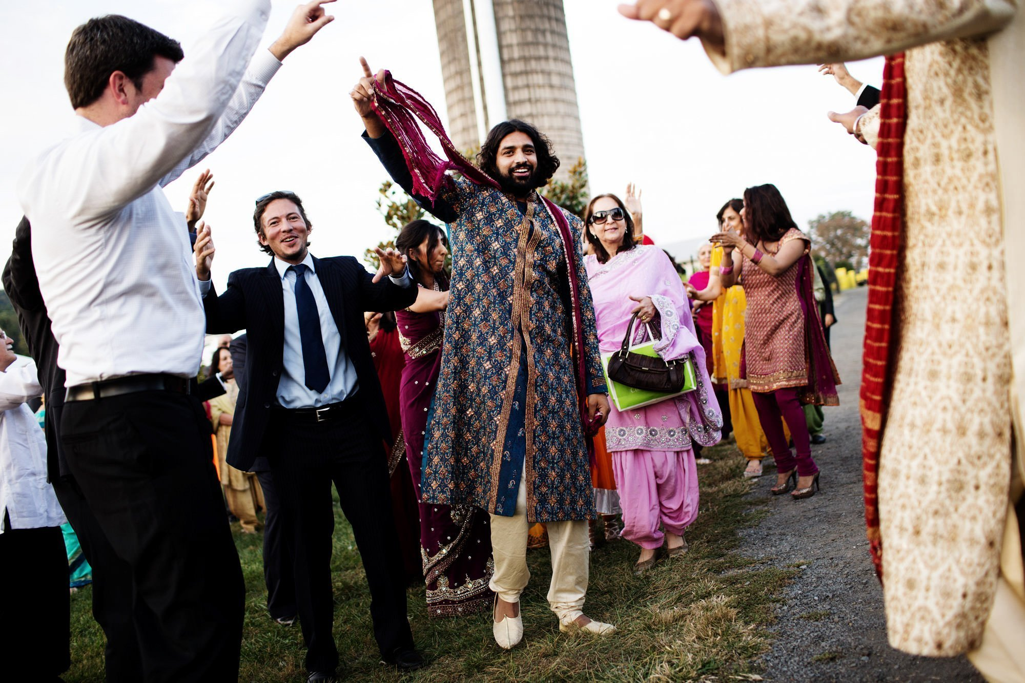 The groom prepares for the baraat on his Doukenie Winery wedding day.