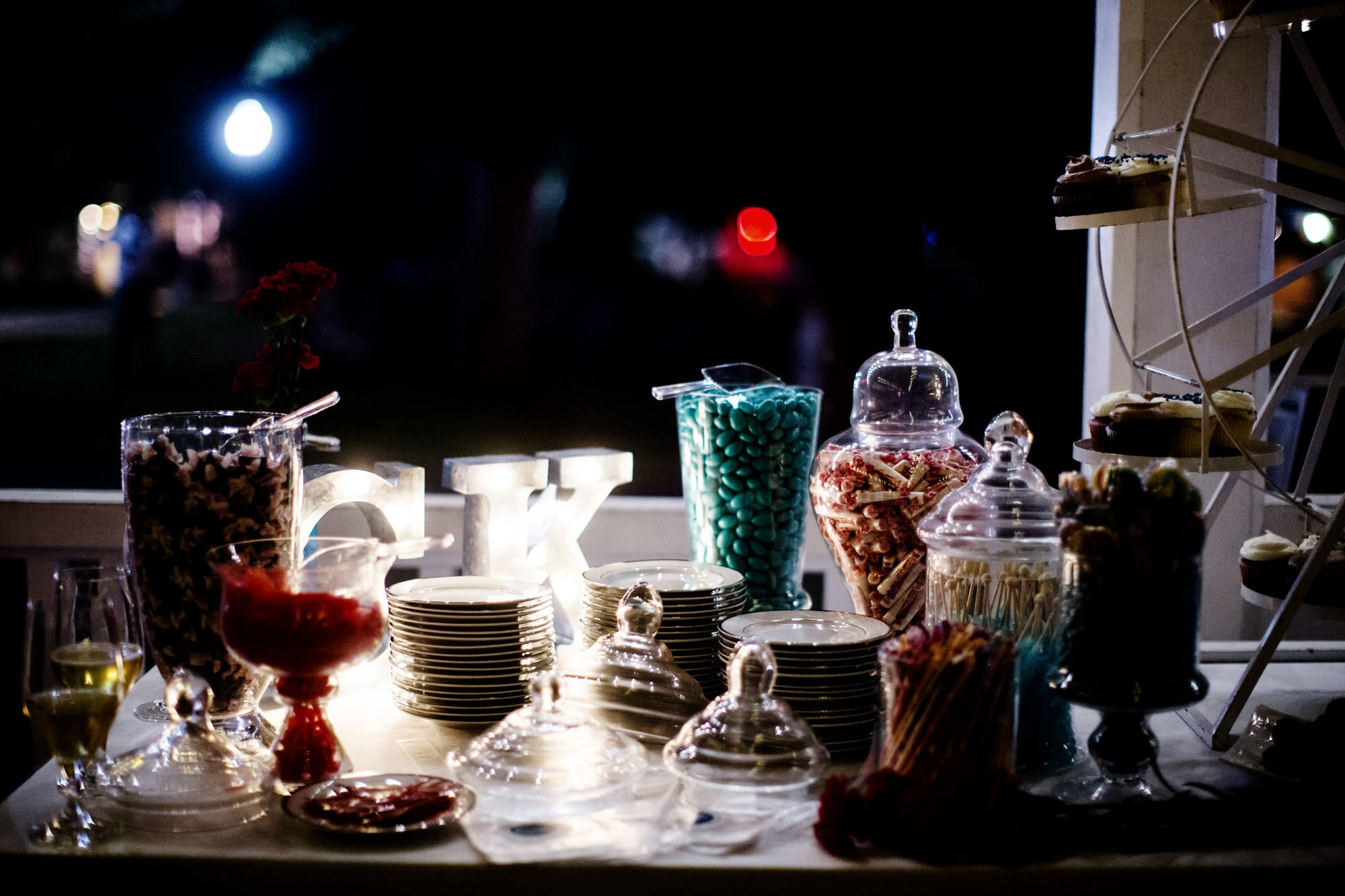 Details of the candy bar.