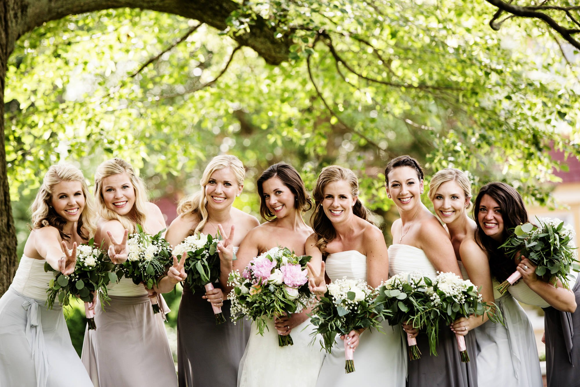 A portrait of the bridal party.