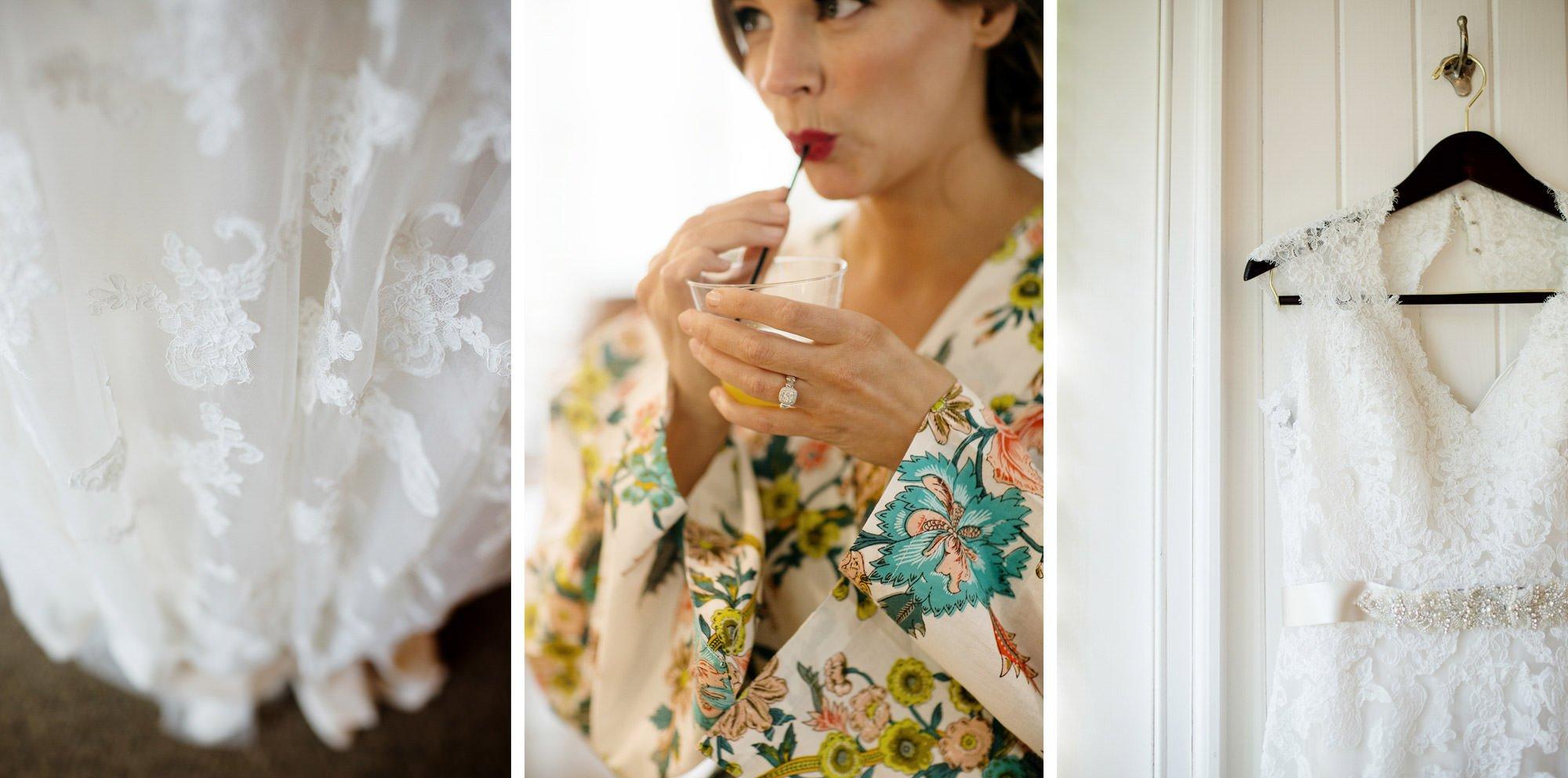The bride's details.