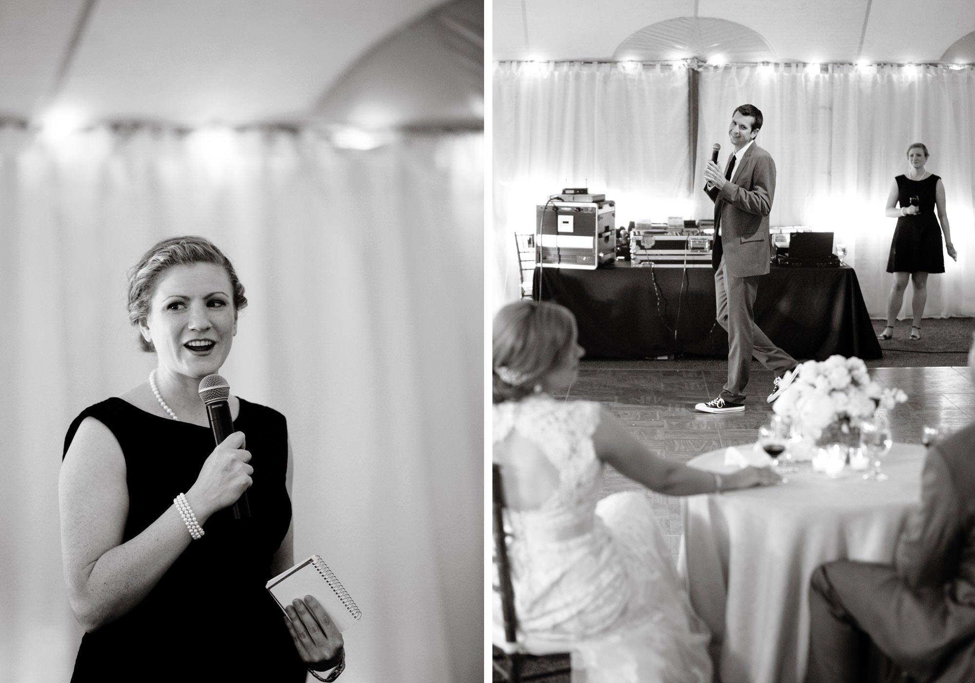 Toasts during this Keswick Vineyards wedding.