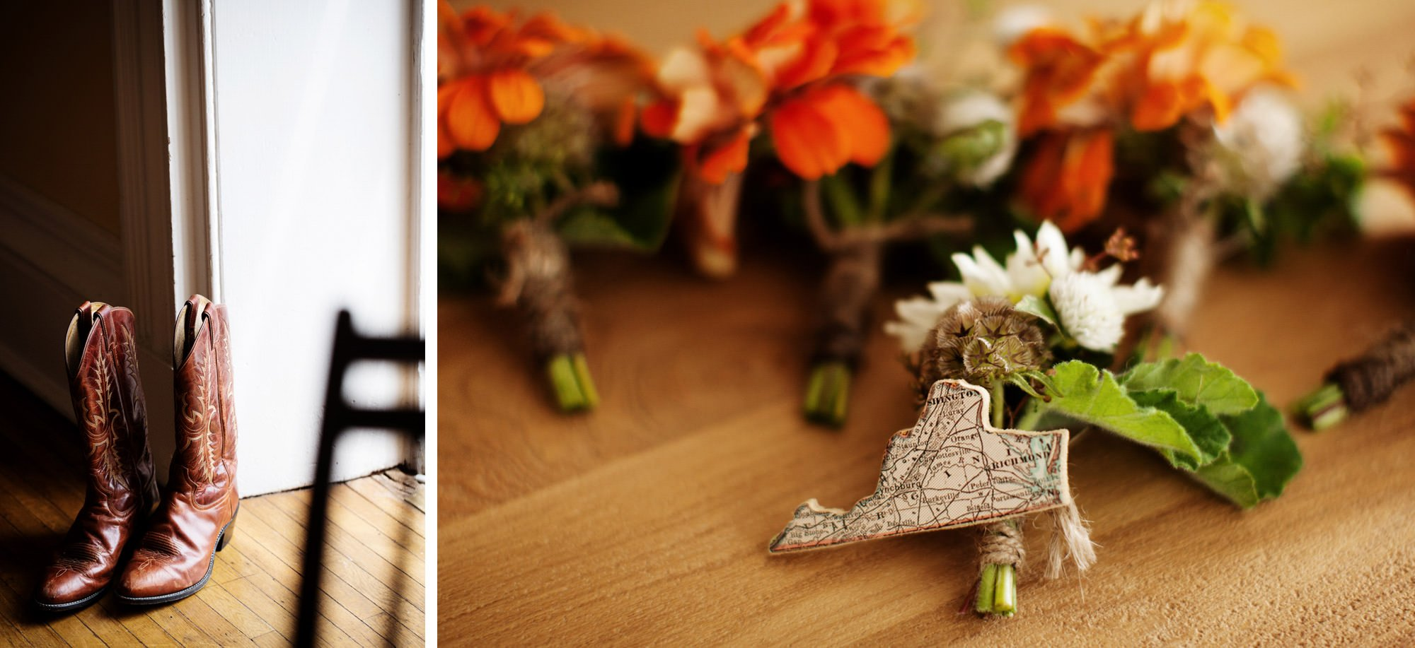 Wedding day details at Marriott Ranch.