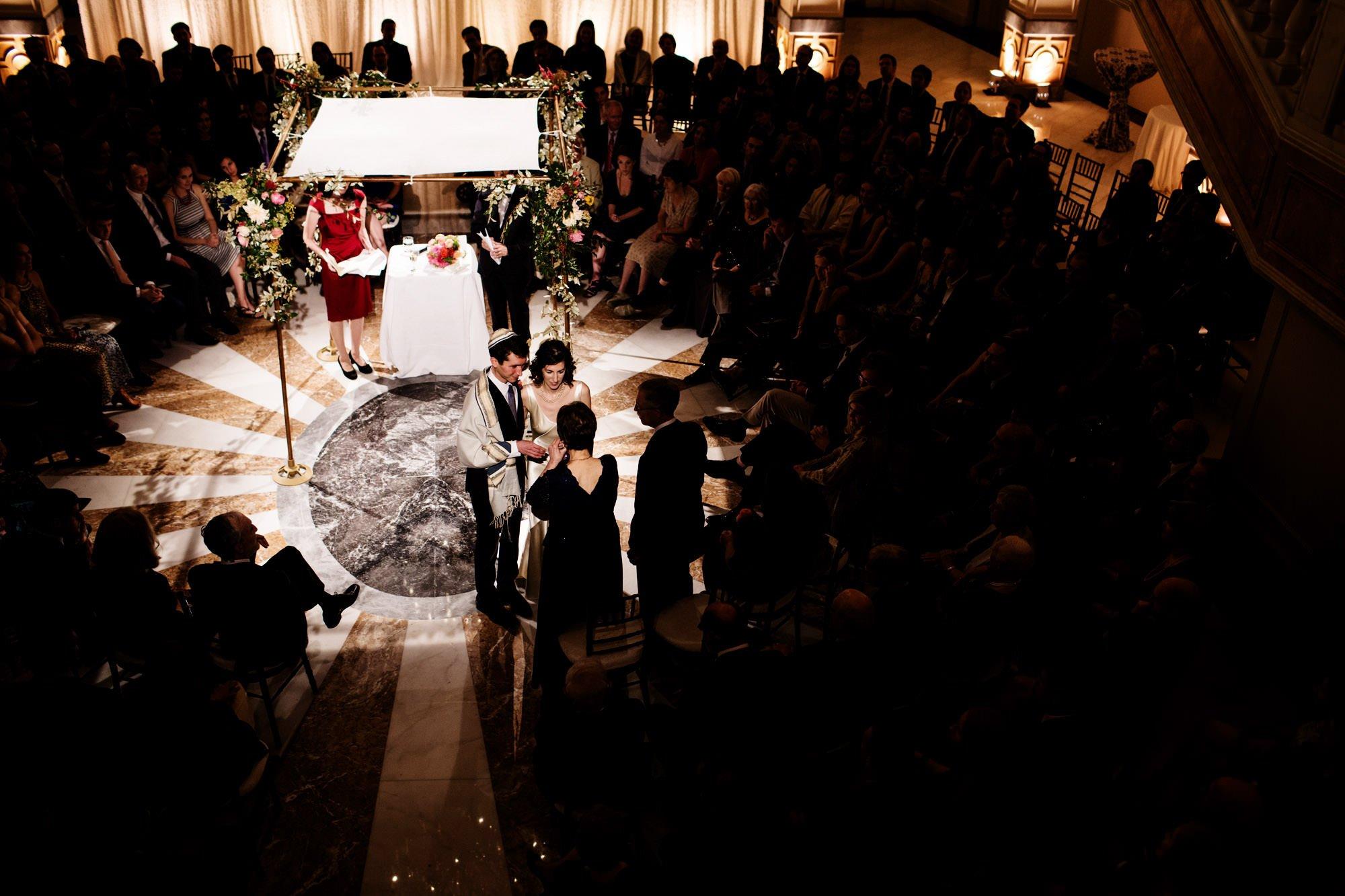 A Jewish wedding ceremony at NMWA.