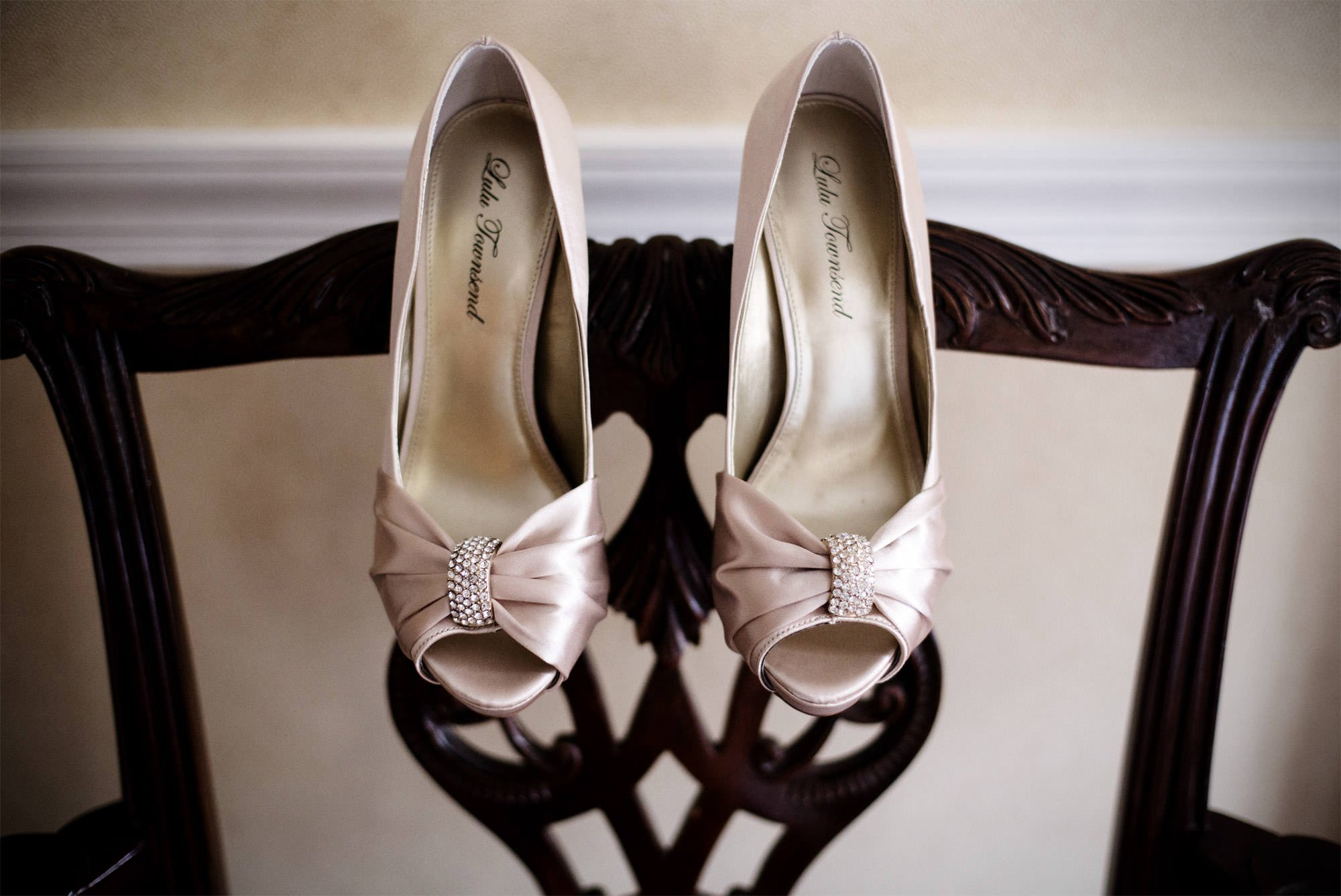 Details of the bride's shoes.