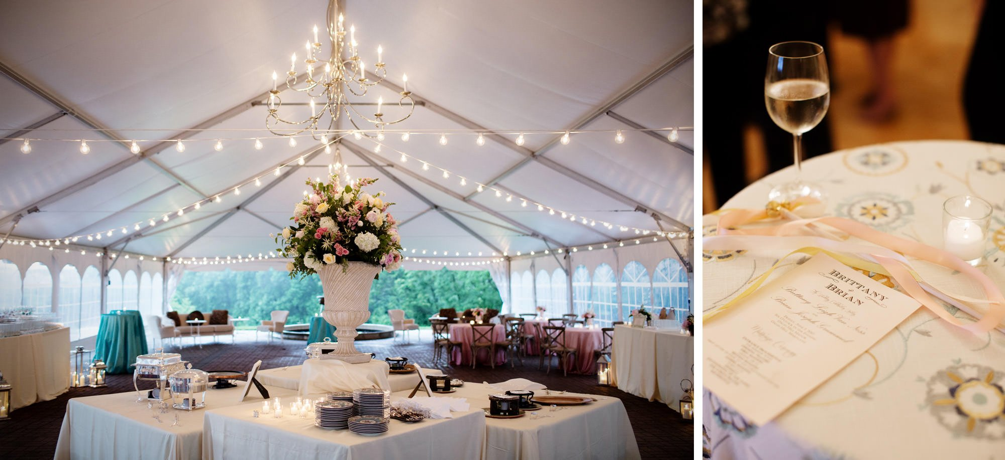 Wedding day details at Oxon Hill Manor.