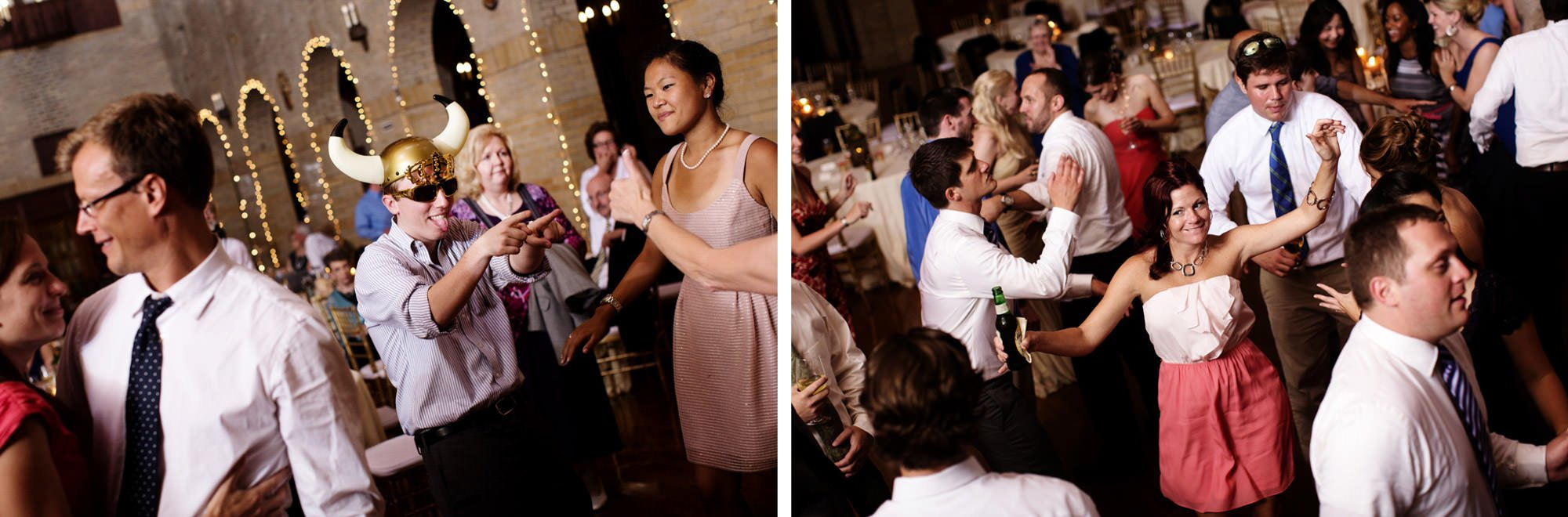 Guests enjoy the reception during this St Francis Hall wedding.