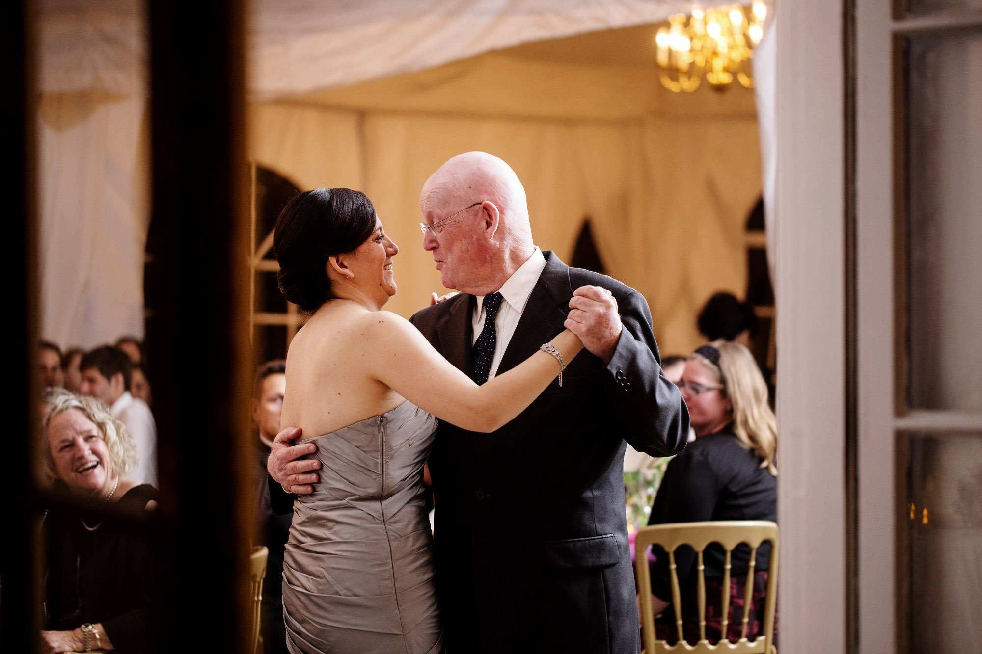 The bride dances with her father at her Woodend Sanctuary Wedding.