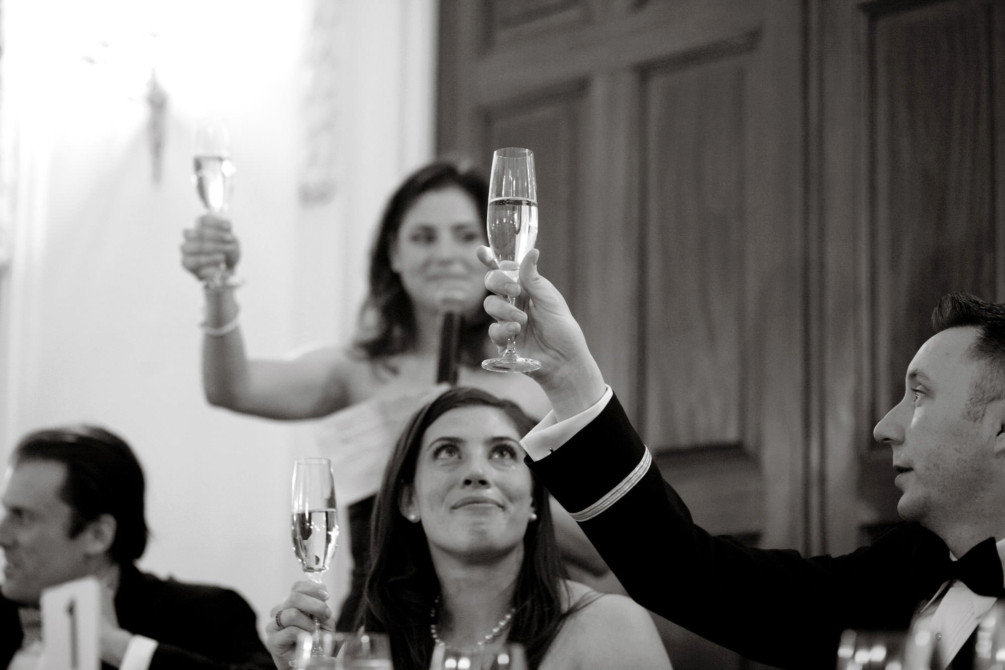 Toasts are given during the DAR Memorial Continental Hall Wedding reception.