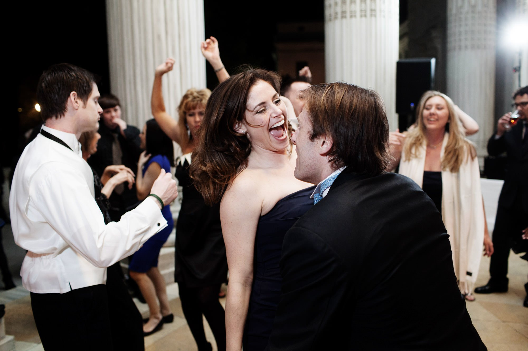 Guests dance during the DAR Memorial Continental Hall Wedding reception.