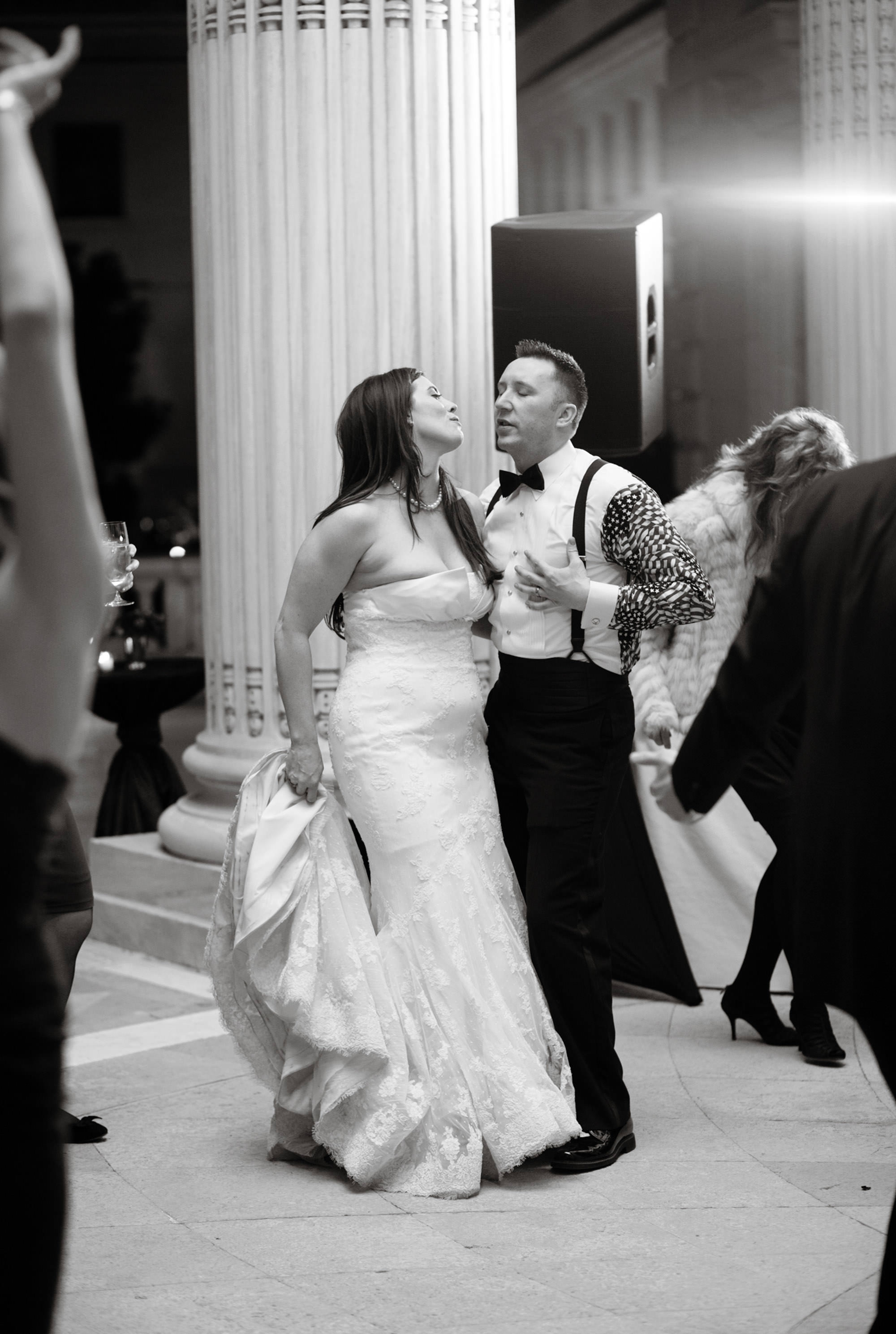The couple dances during their DAR Memorial Continental Hall Wedding reception.
