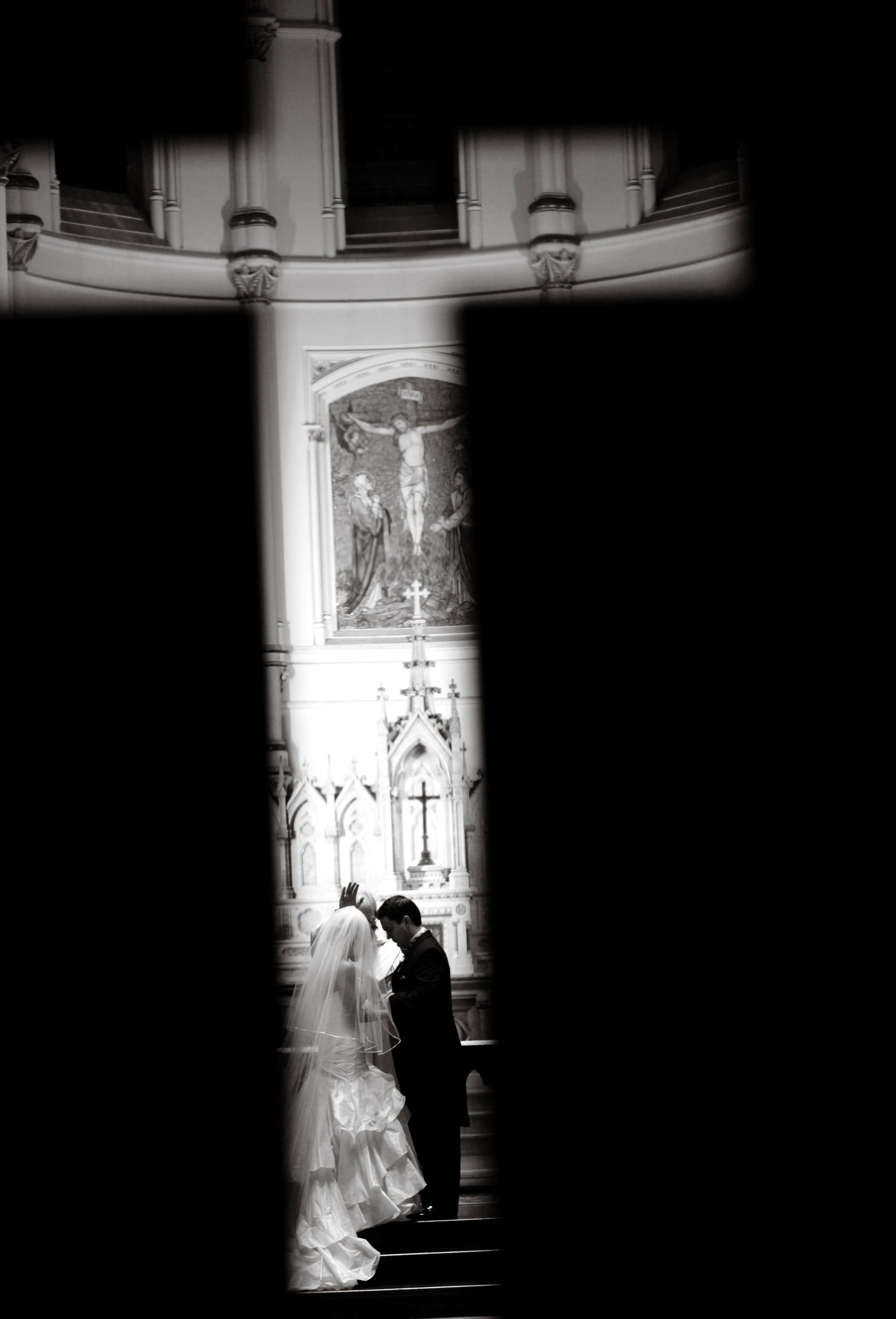 The wedding ceremony at Corpus Christi Church in Baltimore, MD.