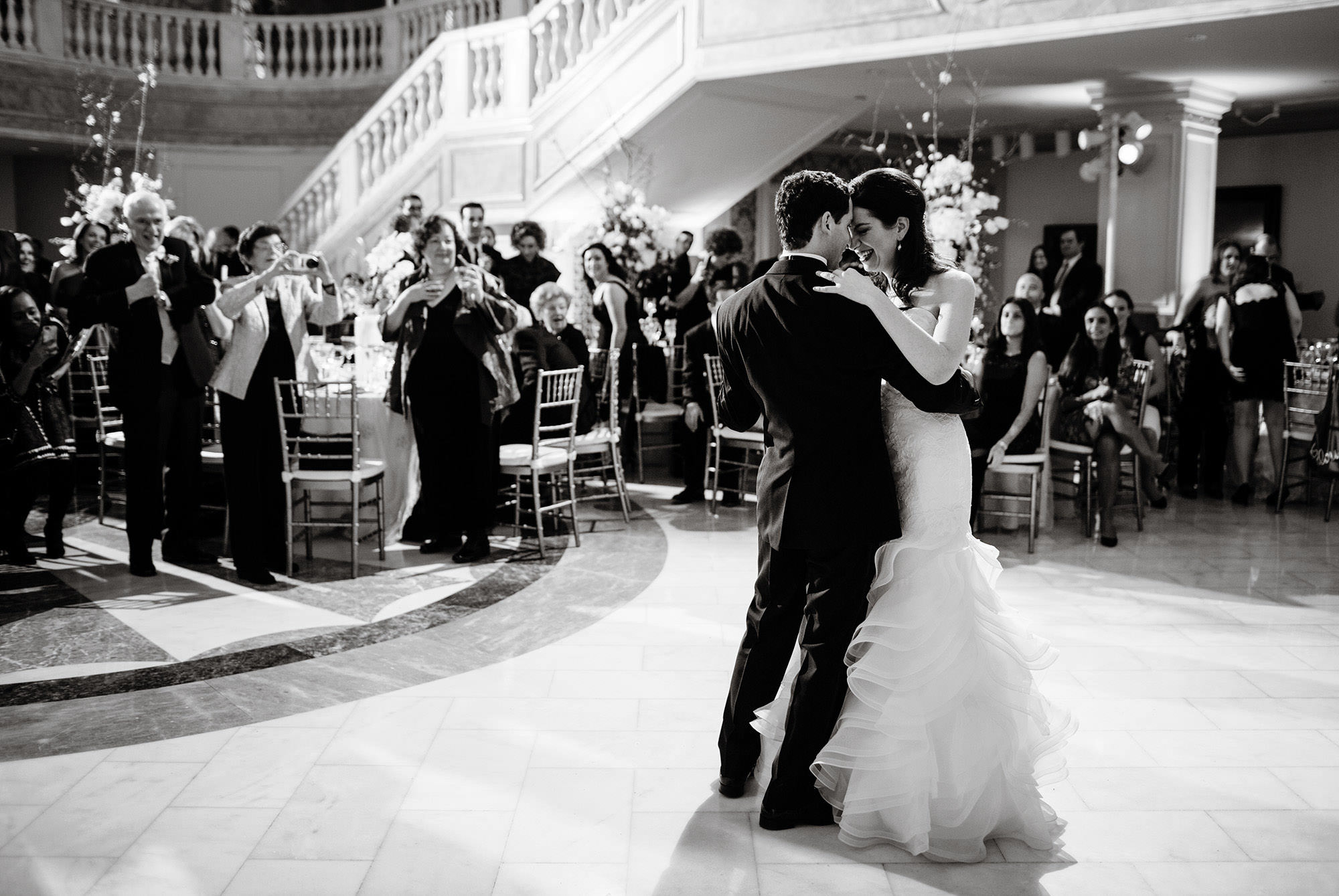 The couple shares their first dance during their wedding at NMWA.