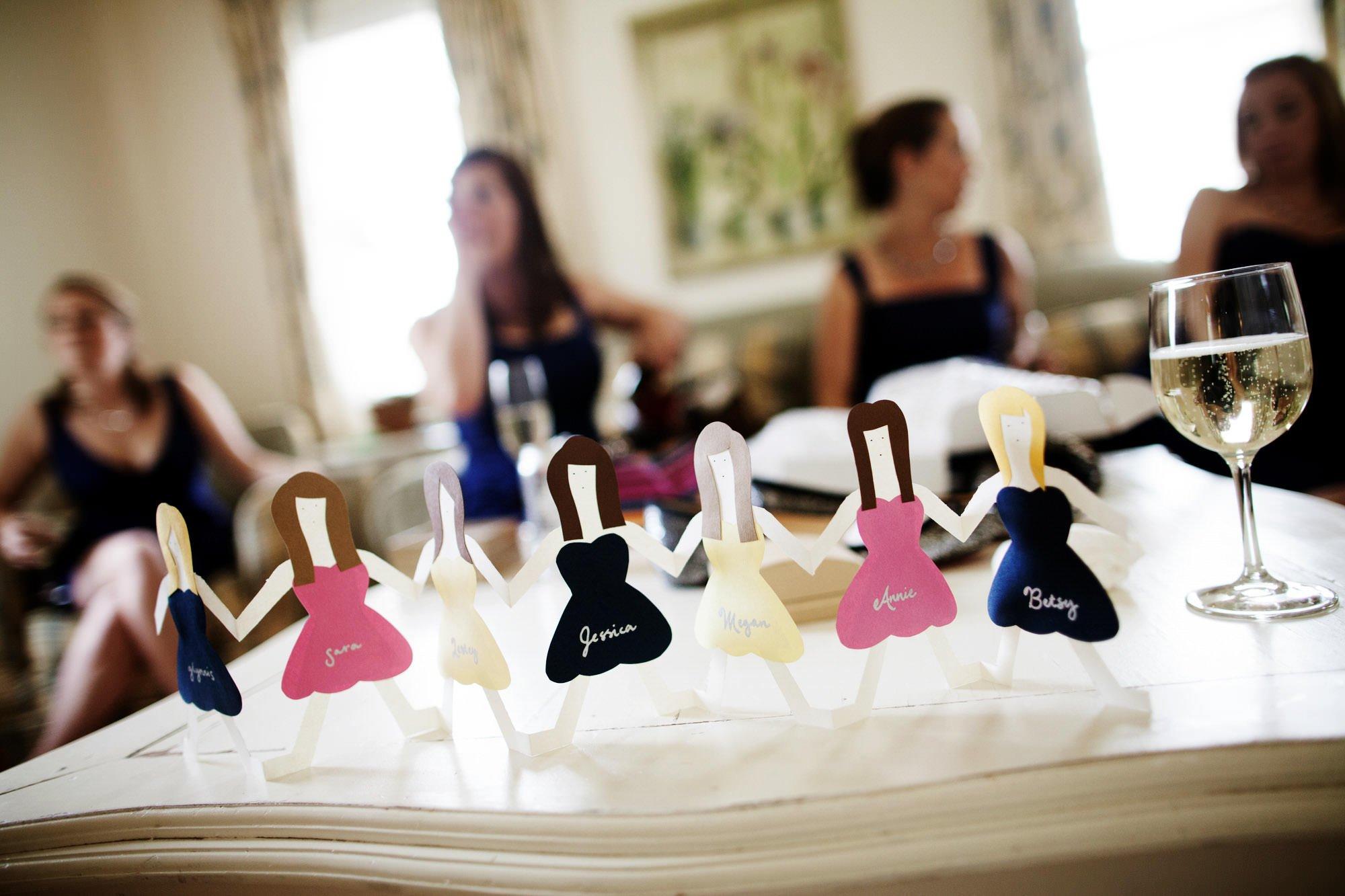 Bridesmaid details.