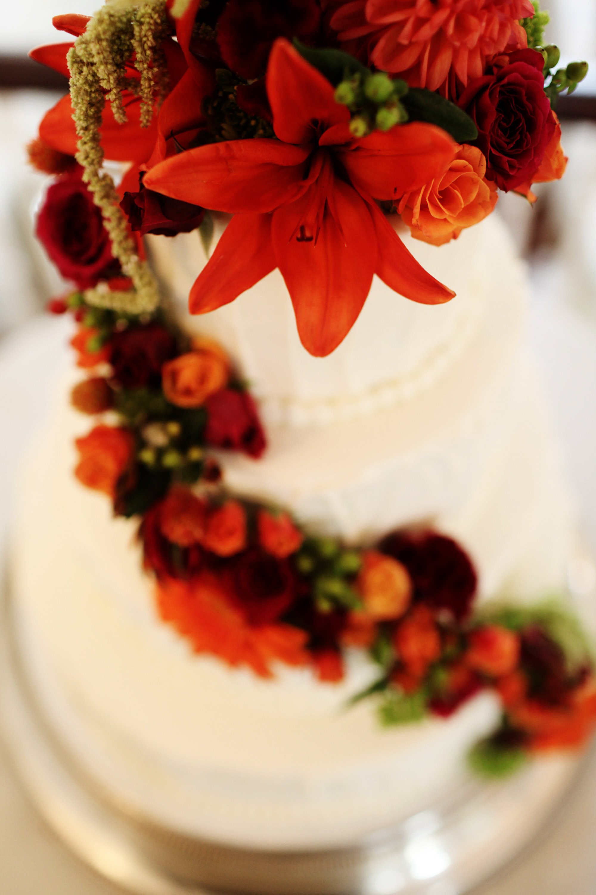 A detail of the wedding cake during this Whitehall Estate wedding.