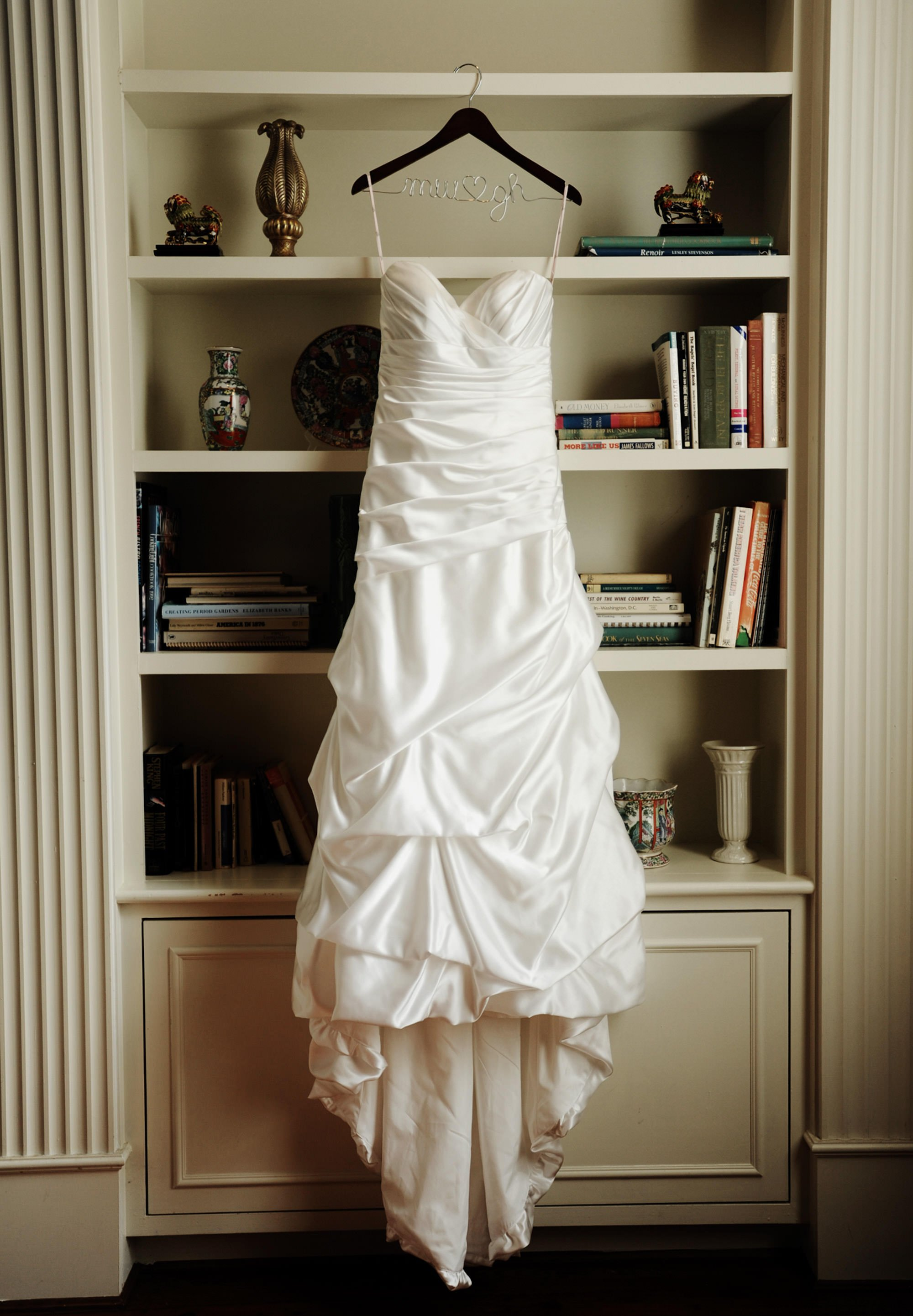 The bride's dress during this Whitehall Estate wedding.