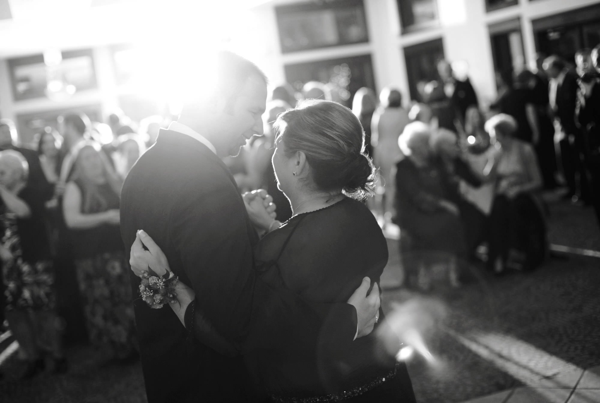 The groom dances with his mother during the Whitehall Estate wedding reception.