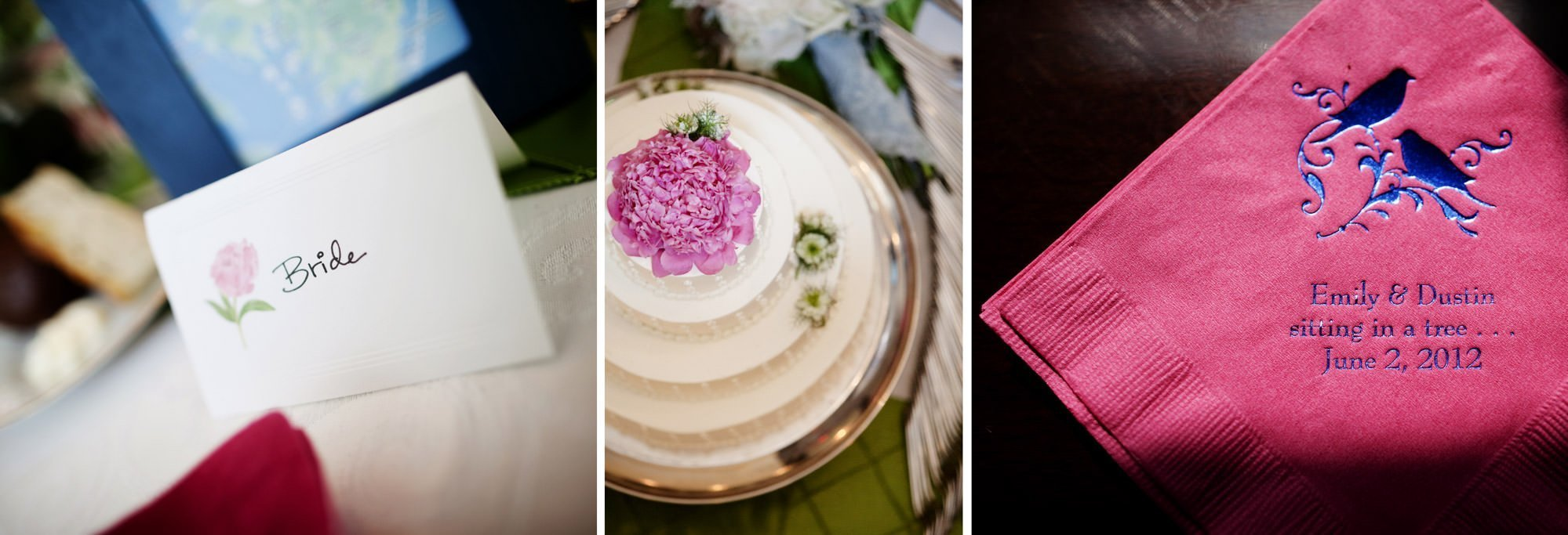 Details of cocktail hour during this Woodend Sanctuary & Mansion wedding.