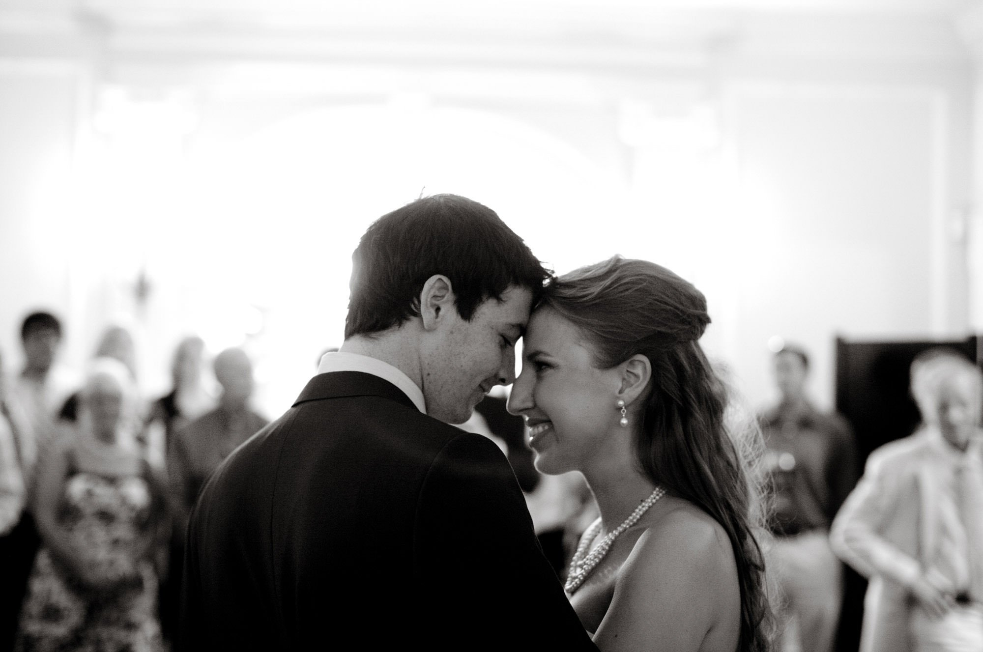 The bride and groom share their first dance during their Woodend Sanctuary & Mansion wedding.