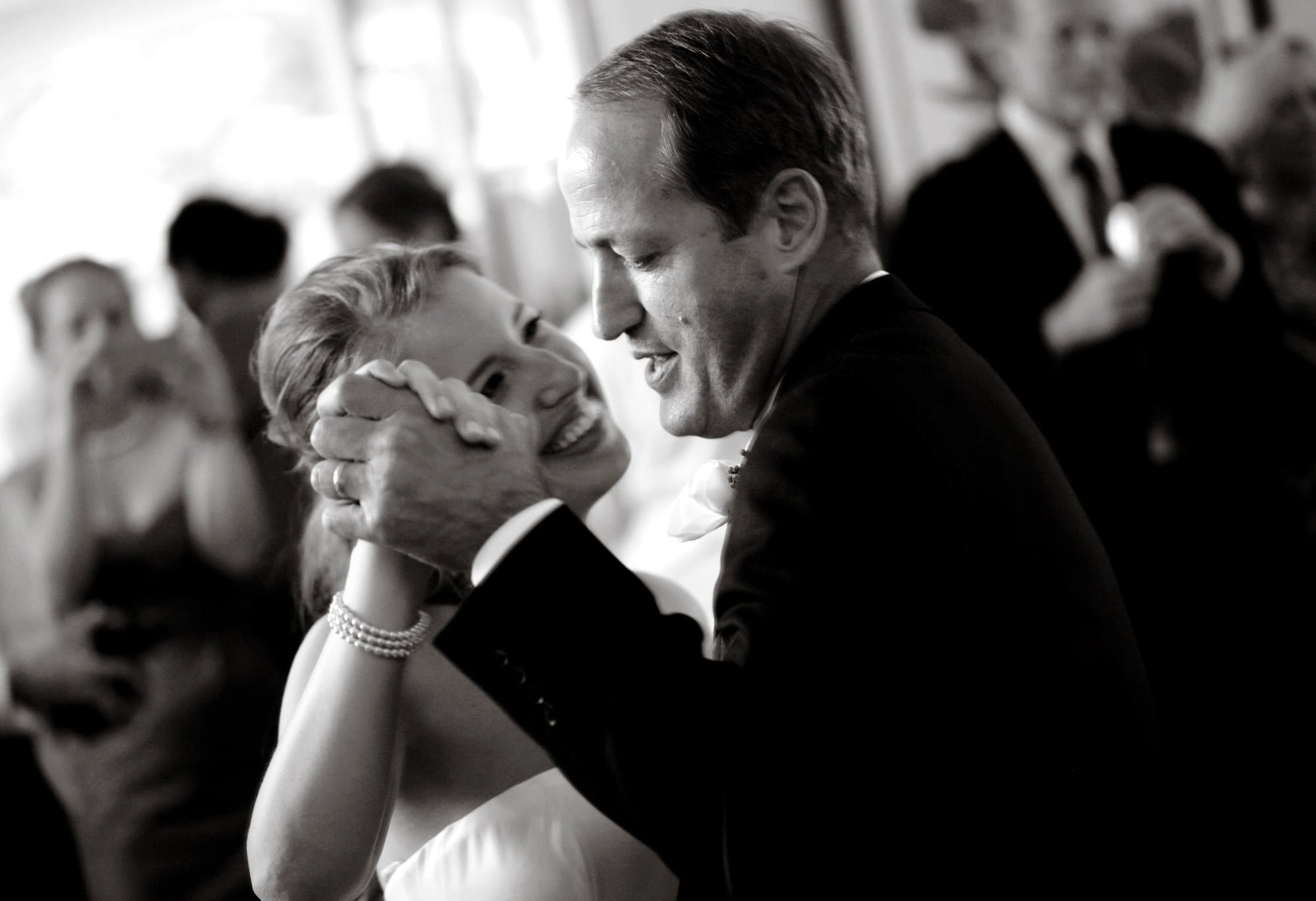 The bride dances with her father during her Woodend Sanctuary & Mansion wedding.